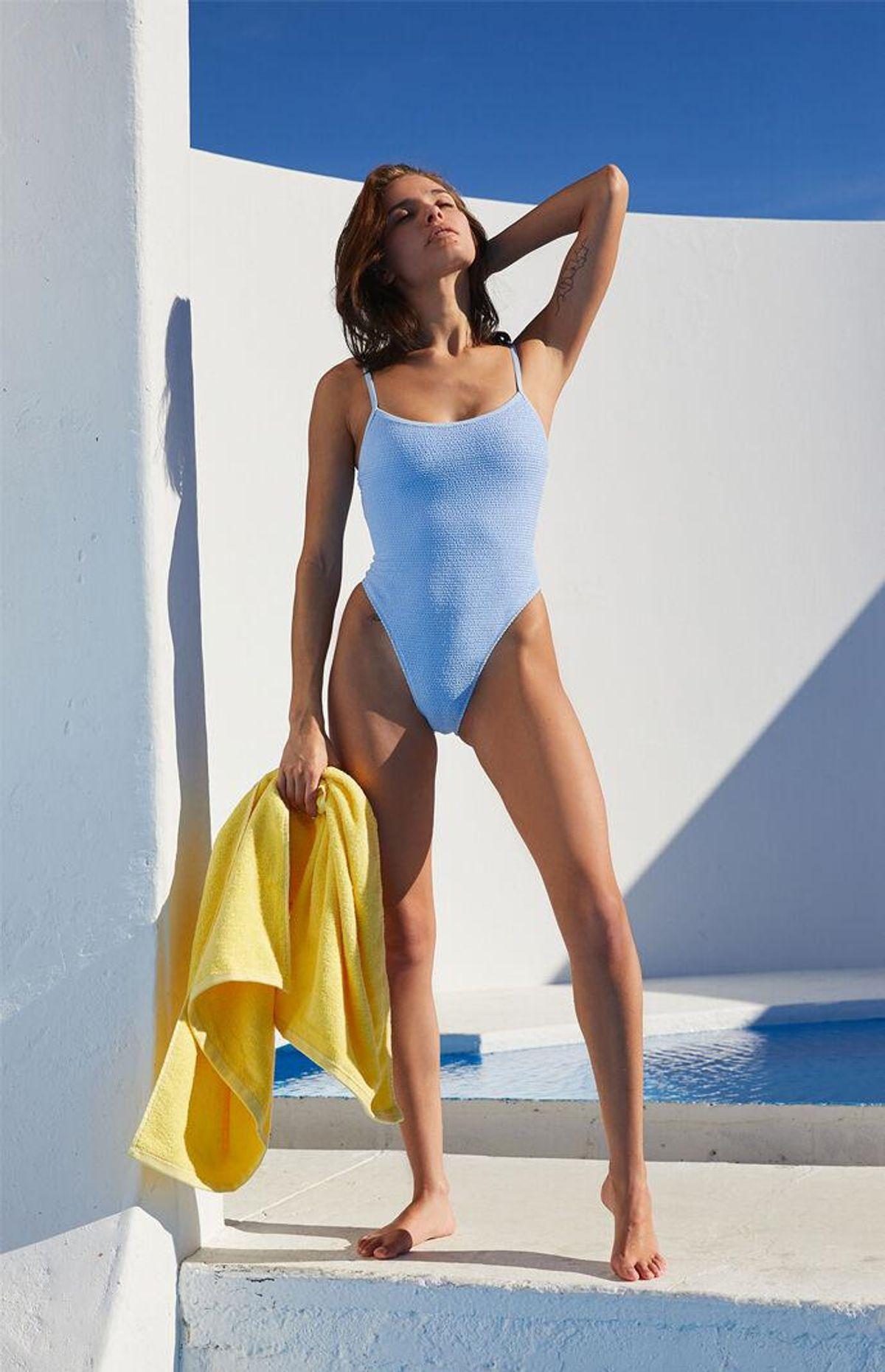 Cora Swimsuit in Light Blue