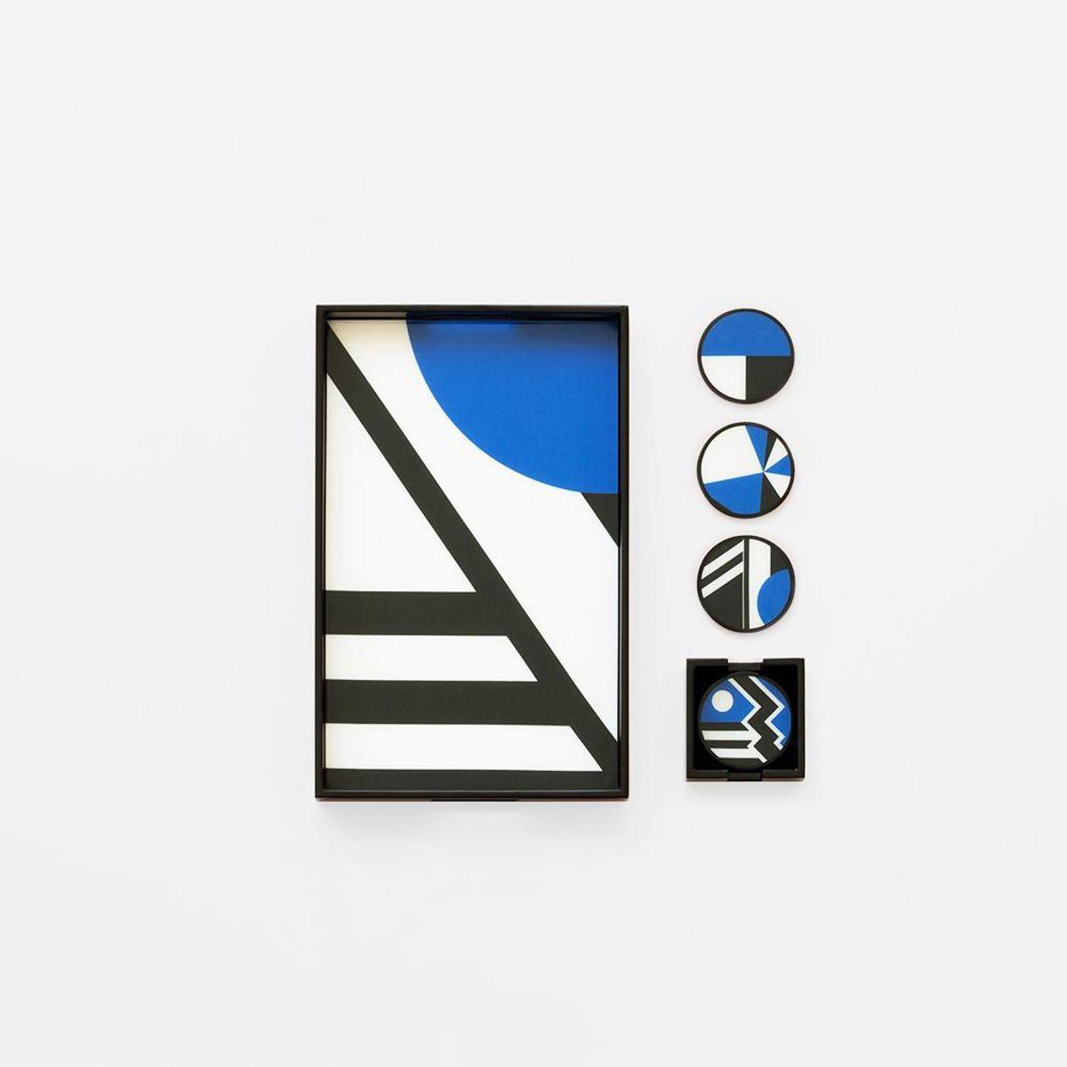 kelly behun studio lacquer tray and coaster set