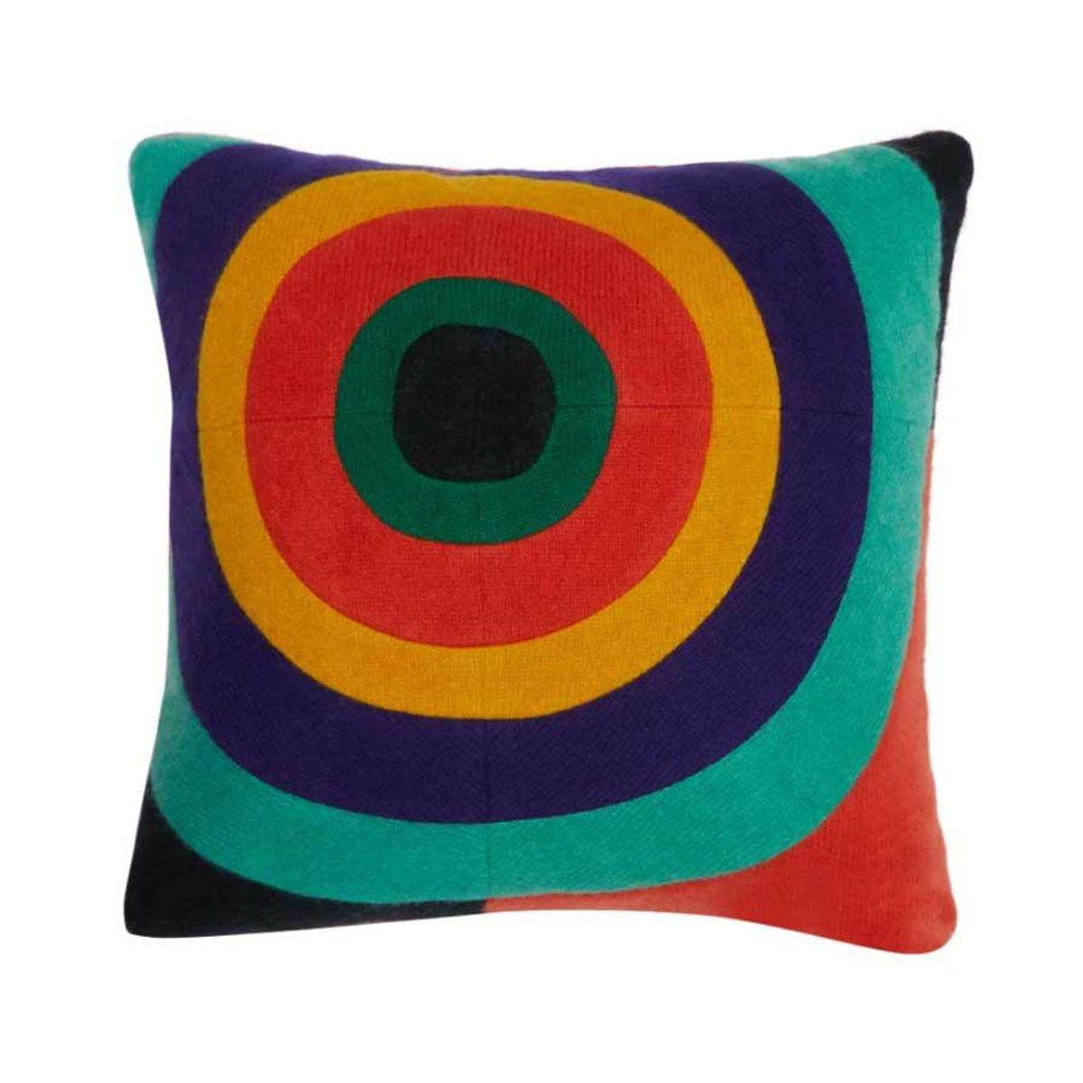 the elder statesman bullseye cashmere cushion