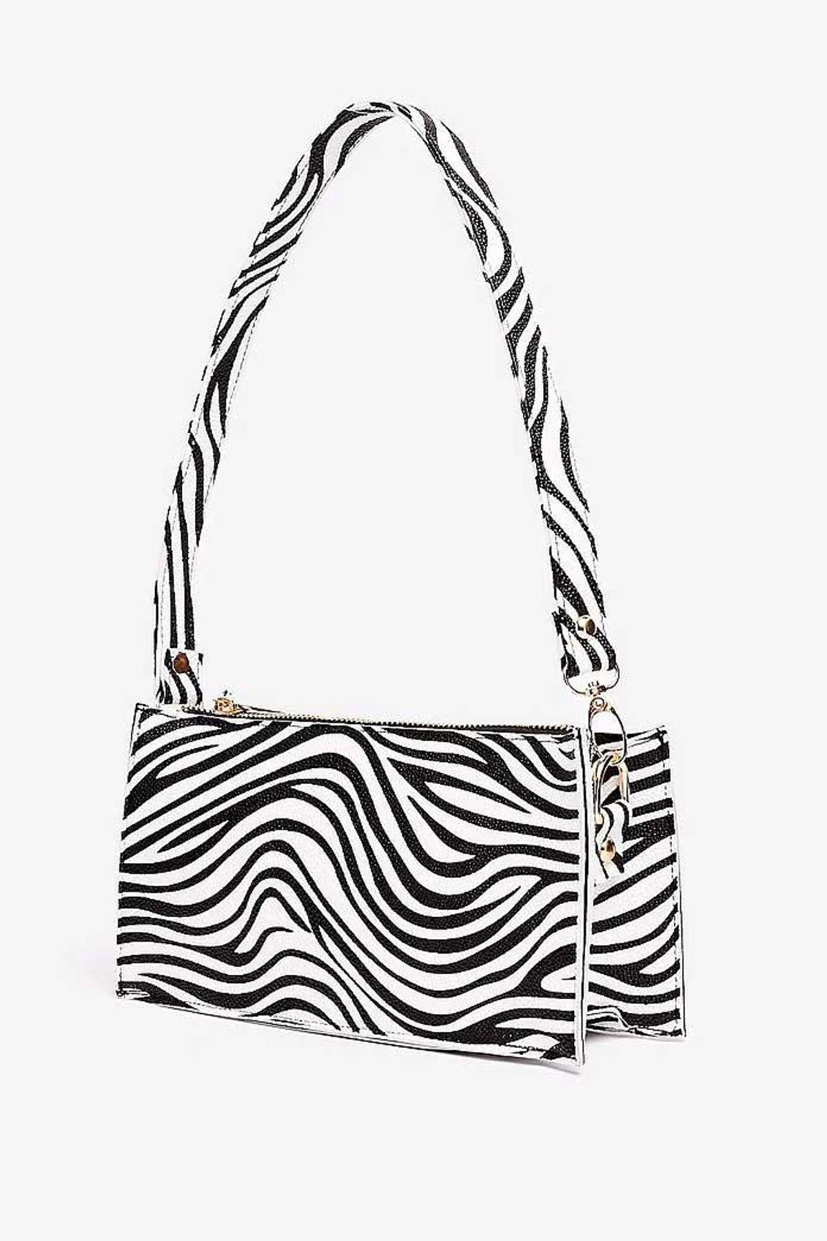 want zebra print mini shoulder bag