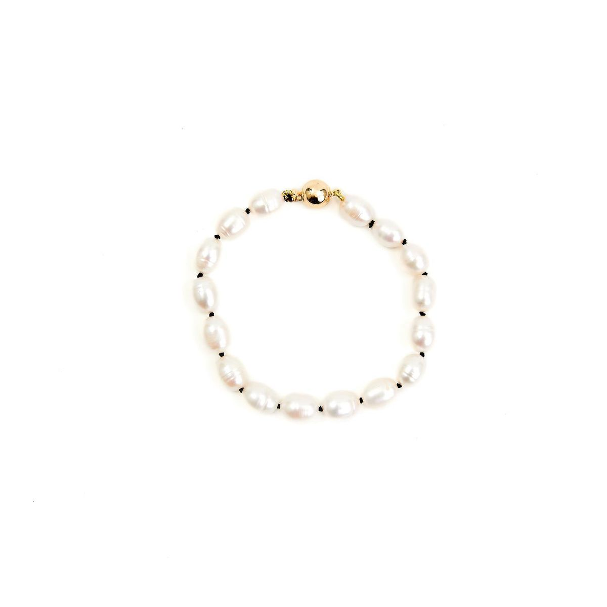 Ivory Pearl Knotted Bracelet