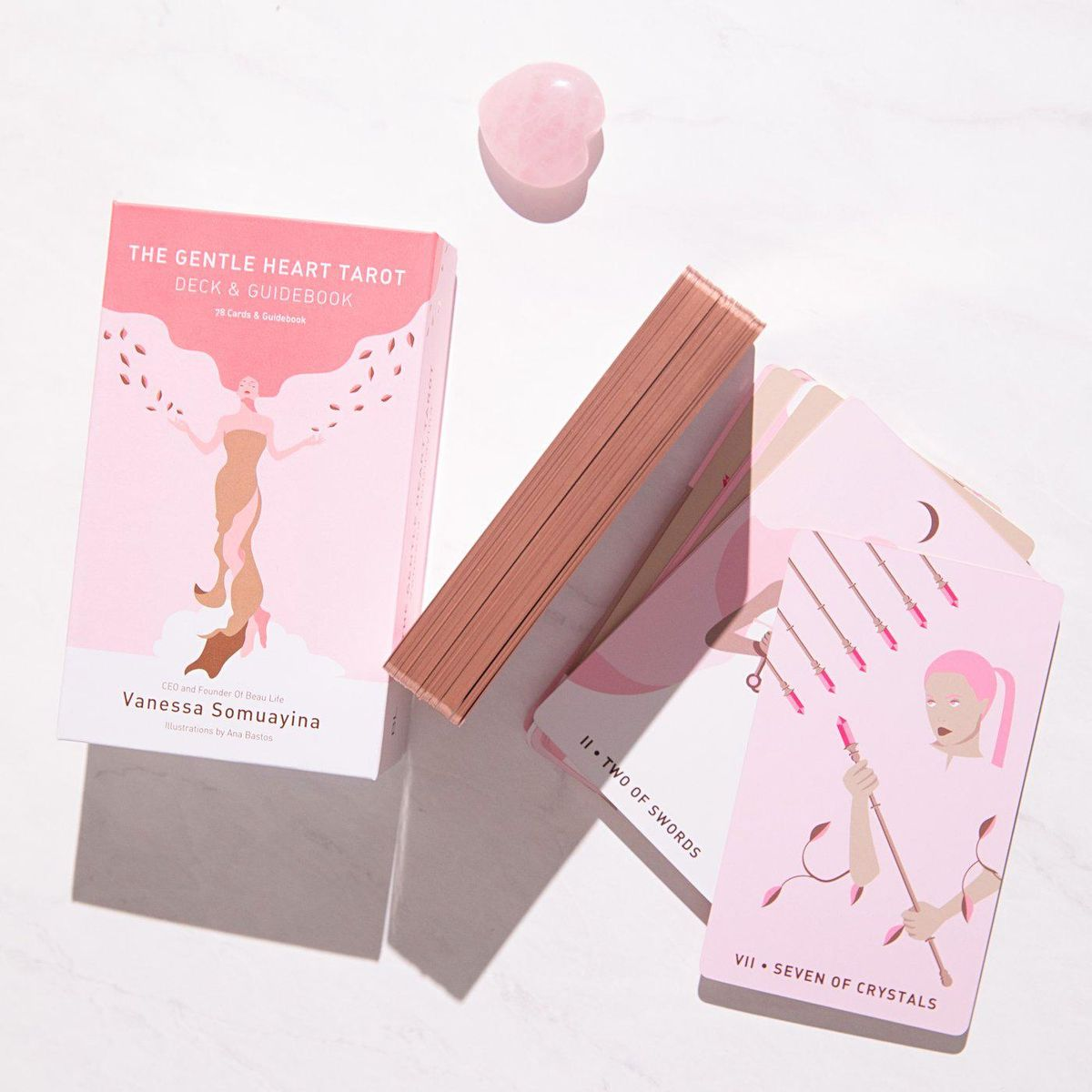 beau life switzerland the gentle heart tarot deck and guidebook with rose quartz heart