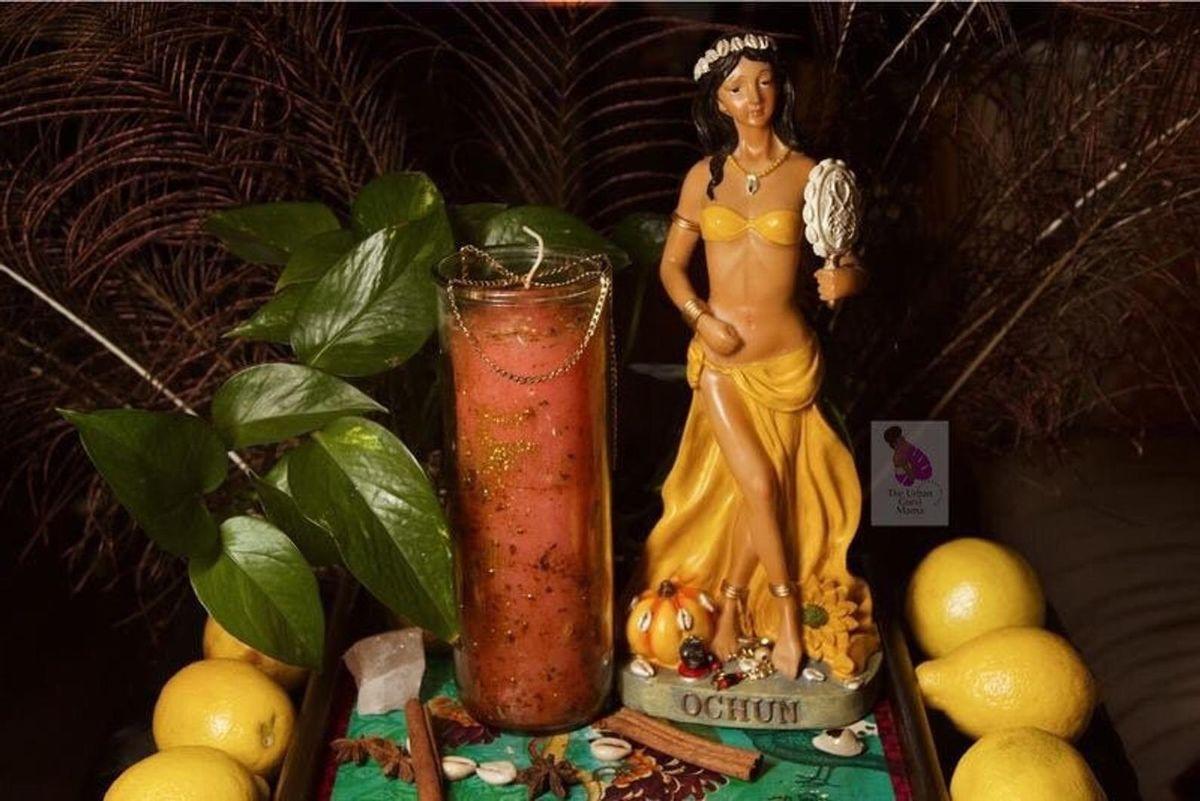 the urban gurvi mama oshuns self-love relationship custom fixed candle