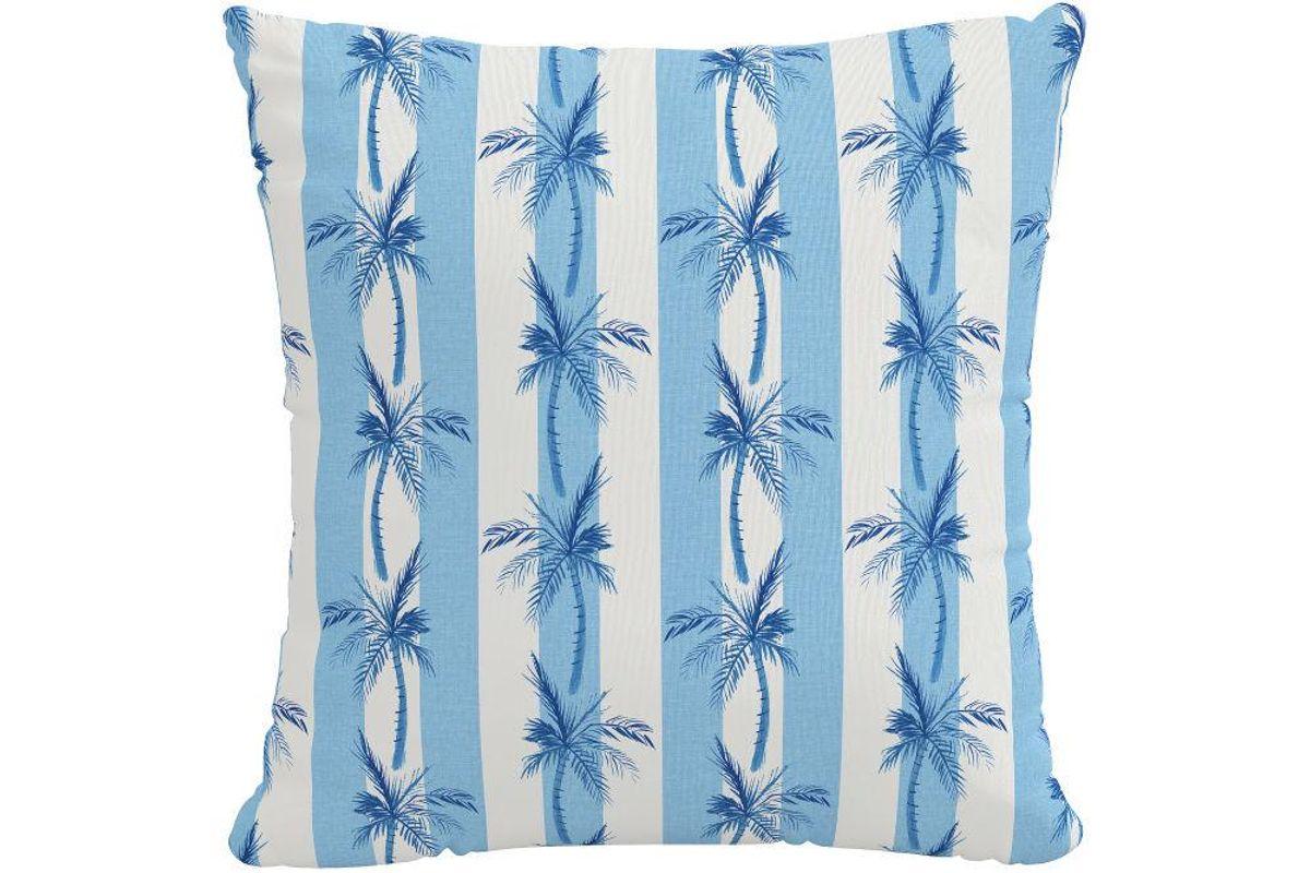 The Cabana Stripe Palms Pillow