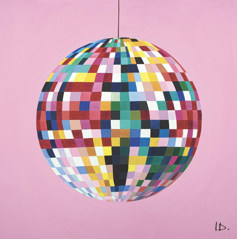 i drew this shop rainbow glitterball print disco ball