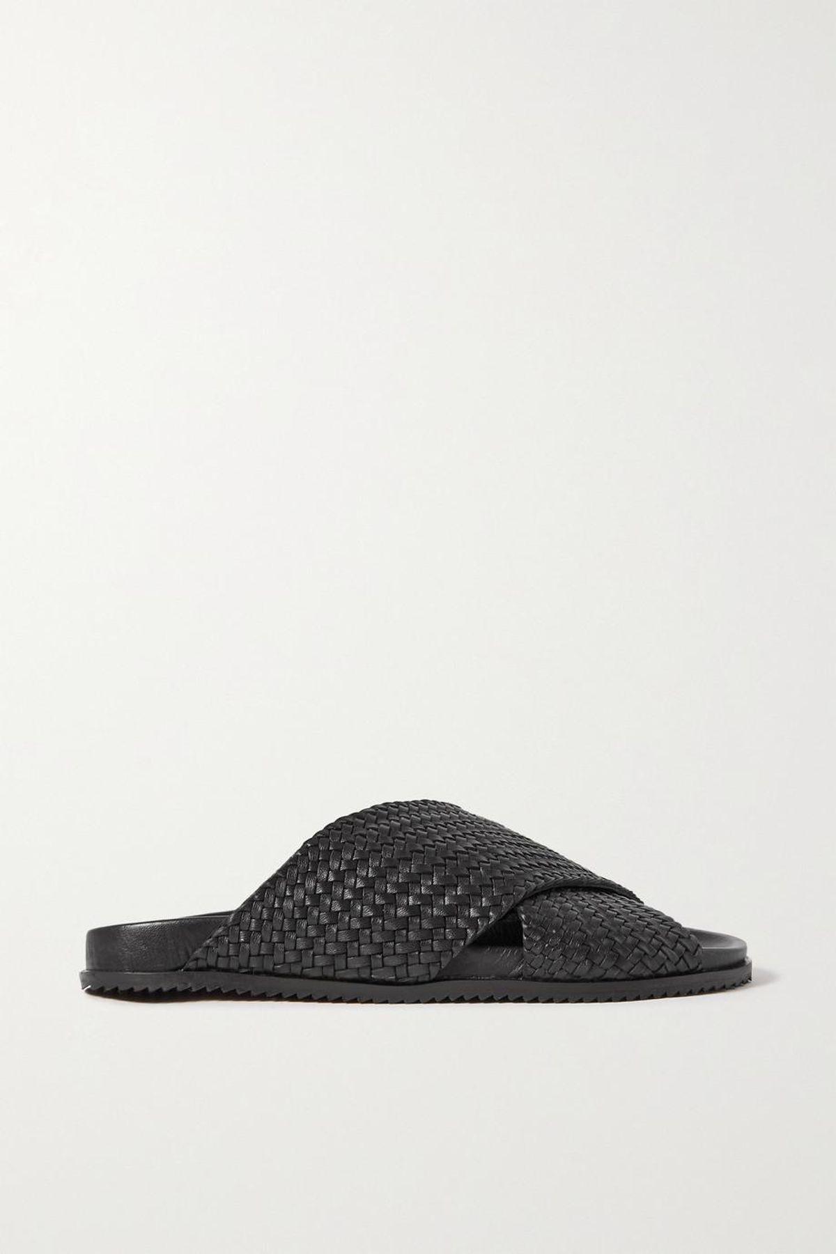 Arne Woven Leather Slides