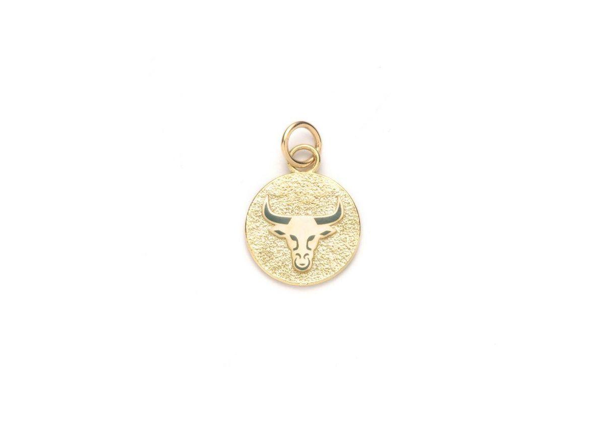 Petite Pebbled Taurus Medallion