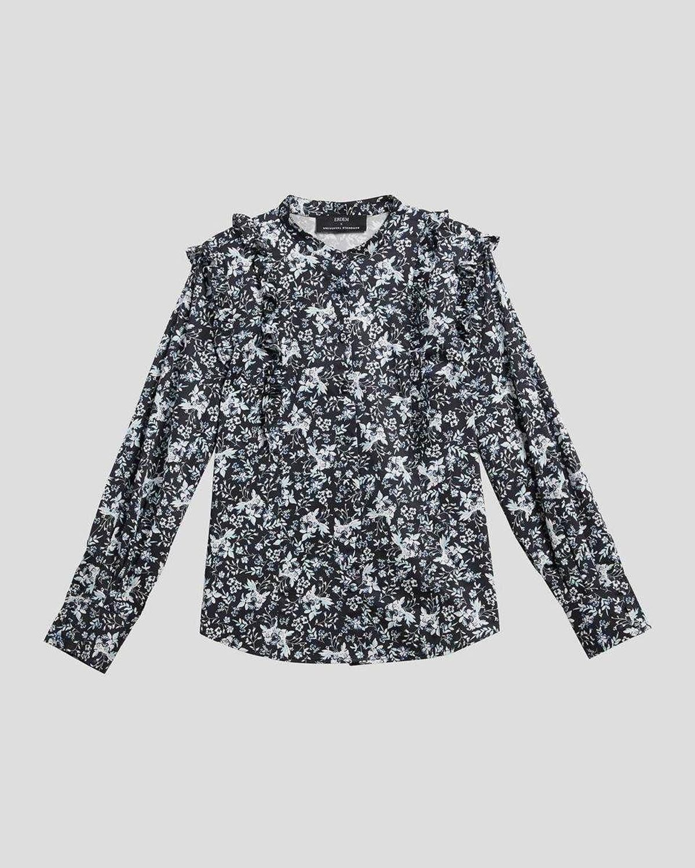 x Kalina Long-Sleeve Ruffle Shirt