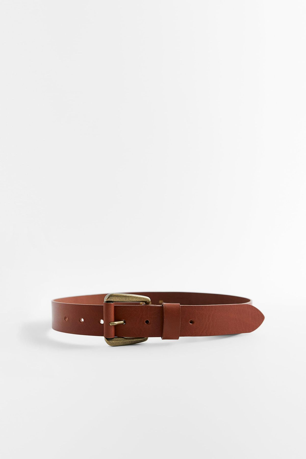 Lined Buckle Leather Belt
