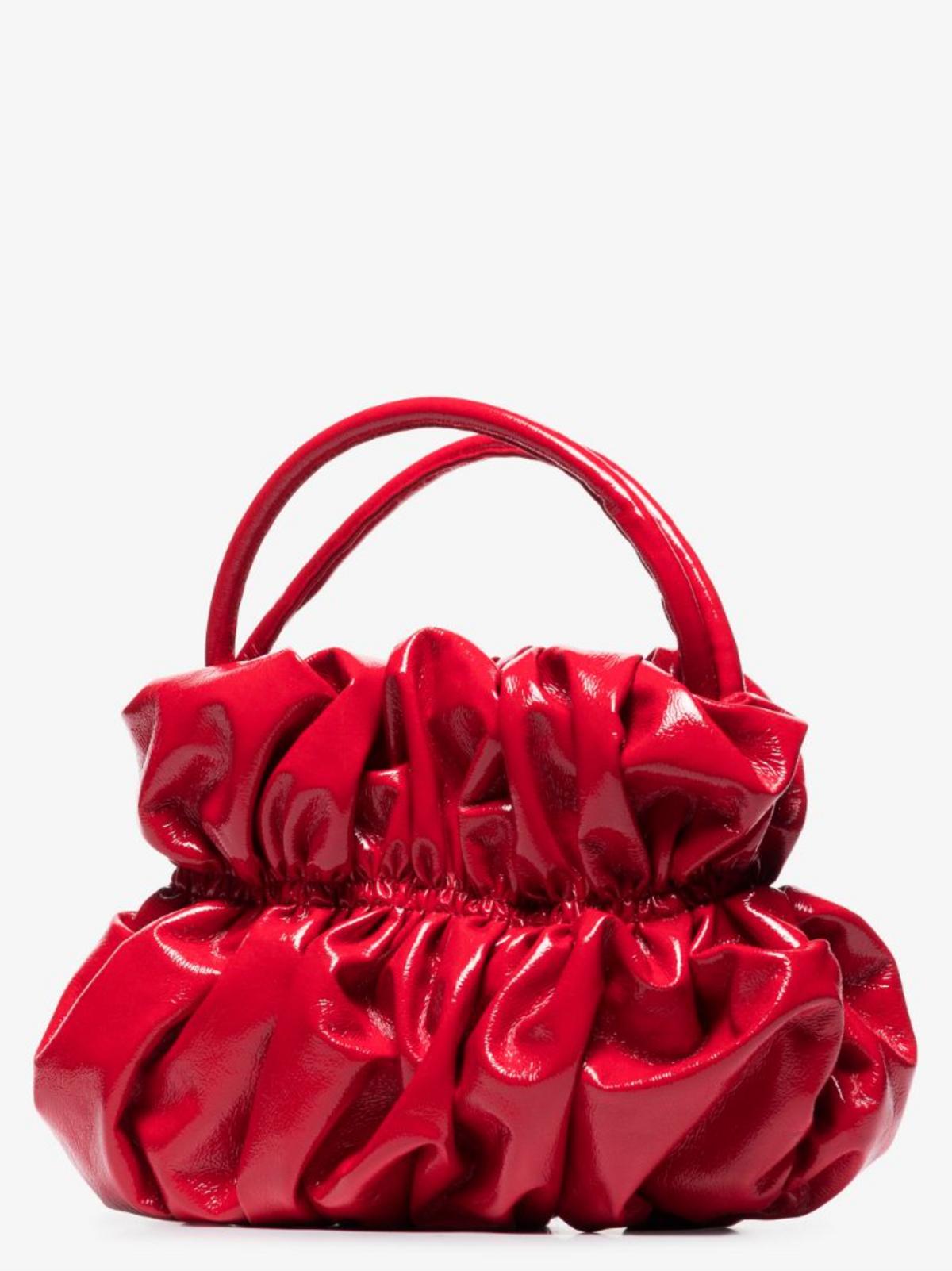 Red Kawasak Bumpy Top Handle Bag
