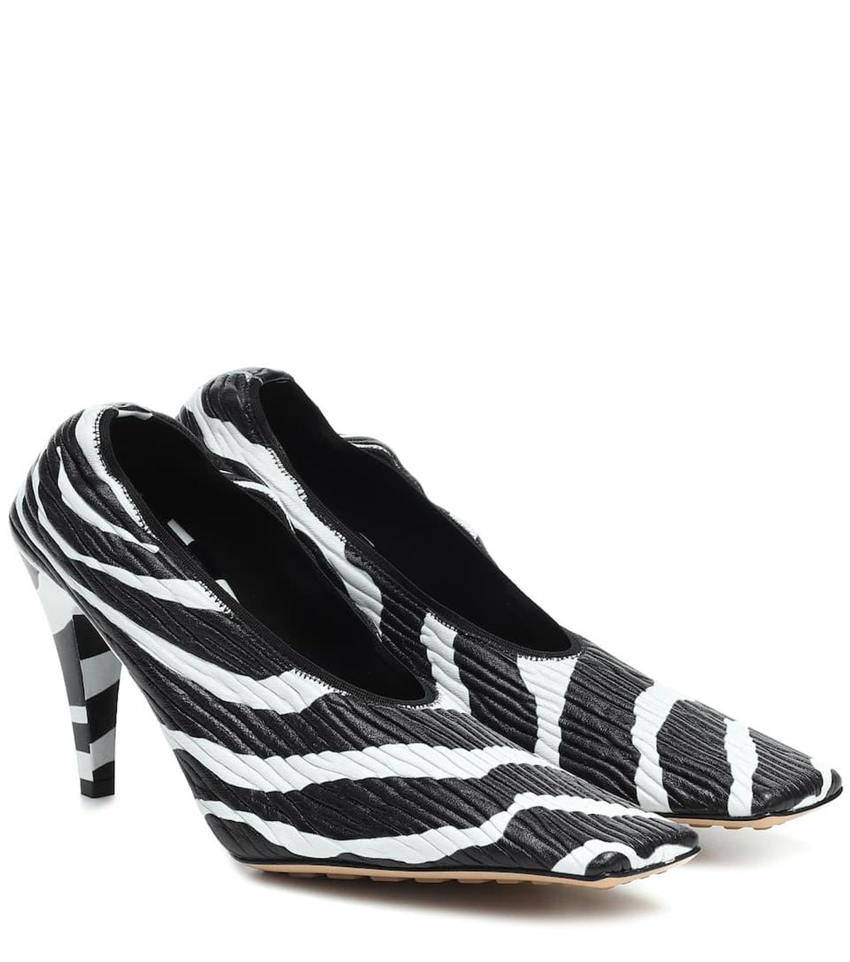 Zebra Print Leather Pumps