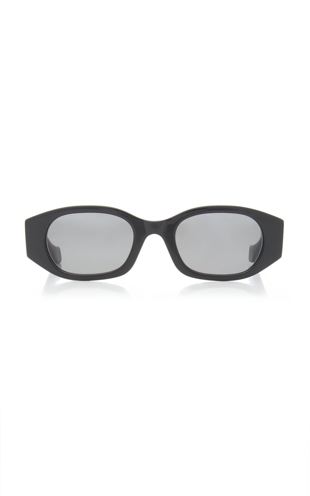 Oblong Oval-Frame Acetate Sunglasses