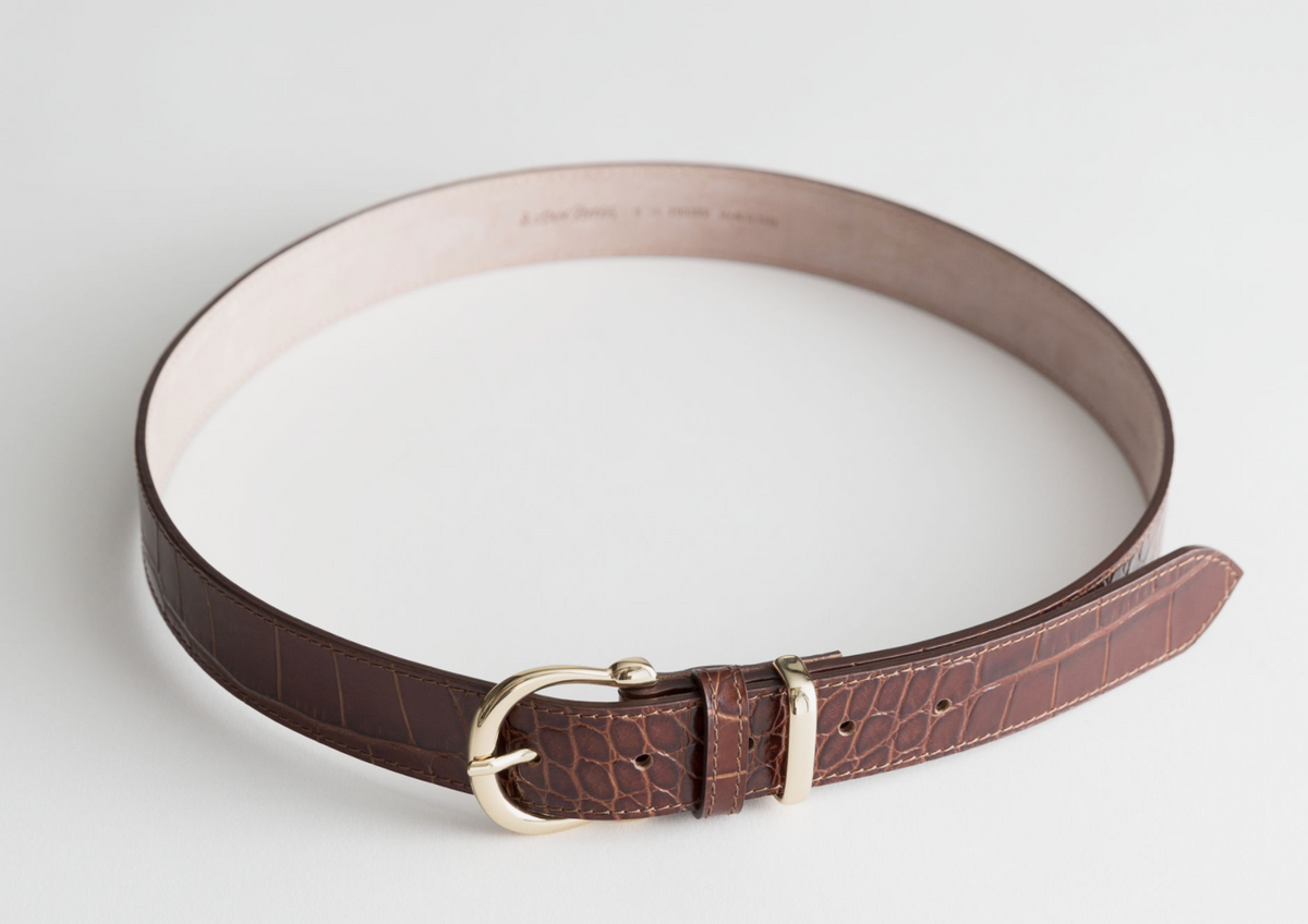 Croc Leather Belt
