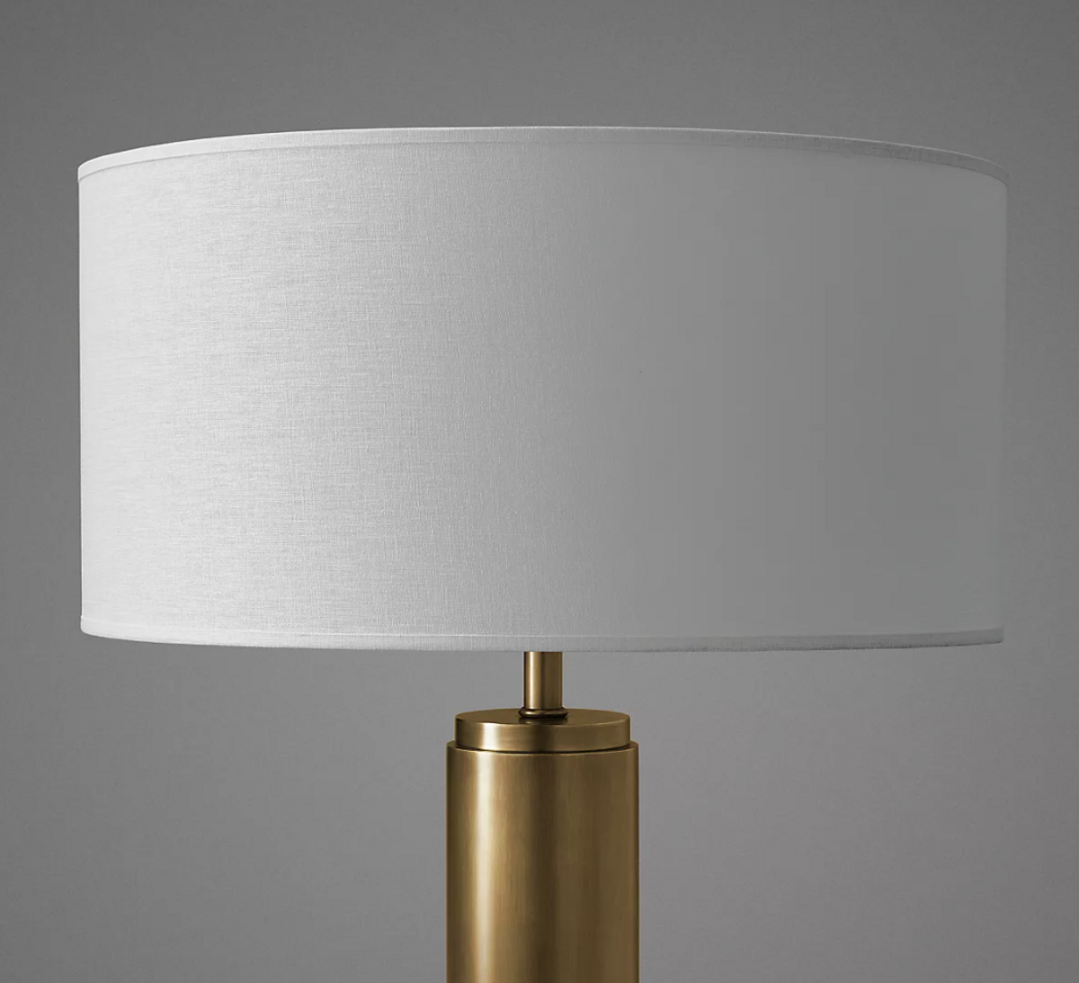 French Drum Linen Shade