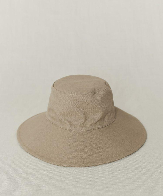 Cotton Canvas Sun Hat in Khaki
