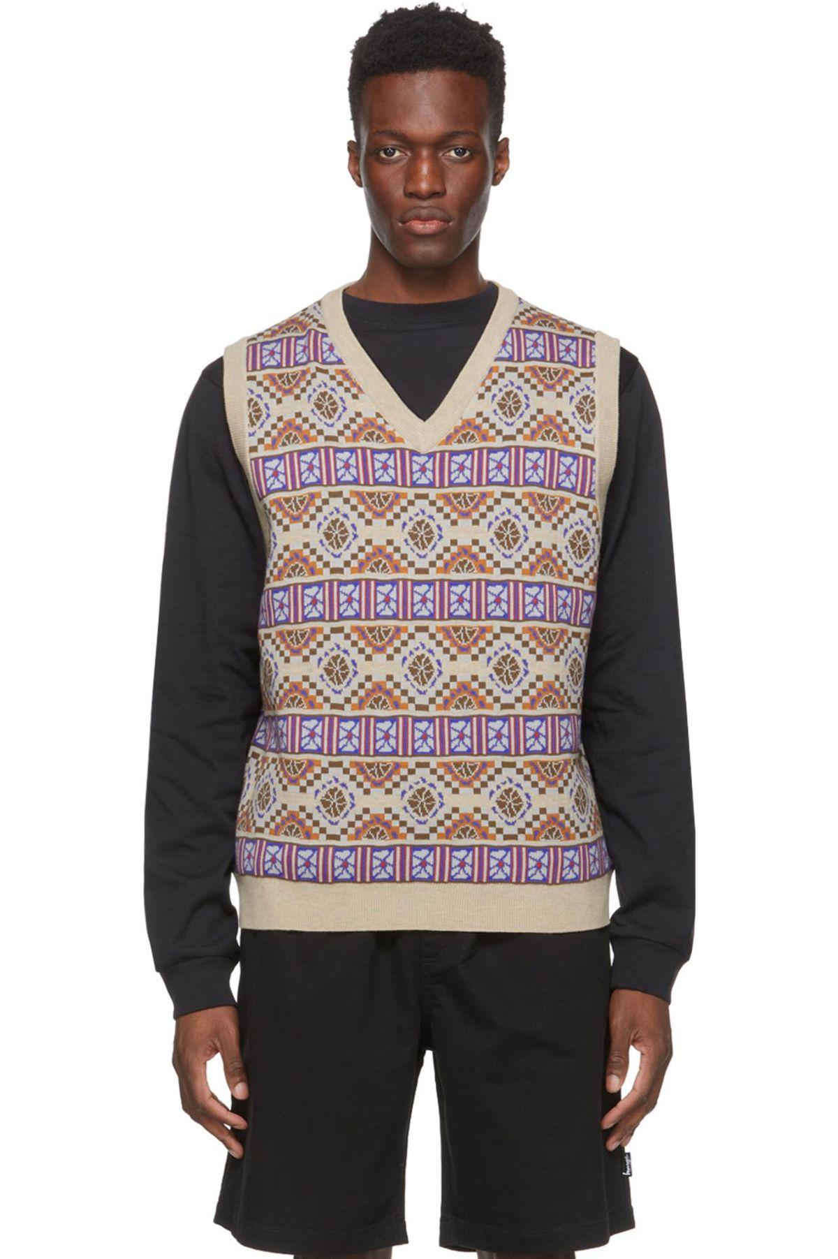 Beige Giza Sweater Vest