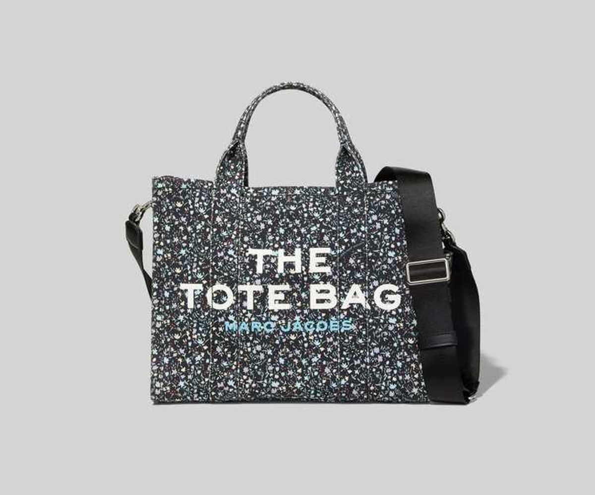 marc jacobs the ditsy floral small traveler tote bag