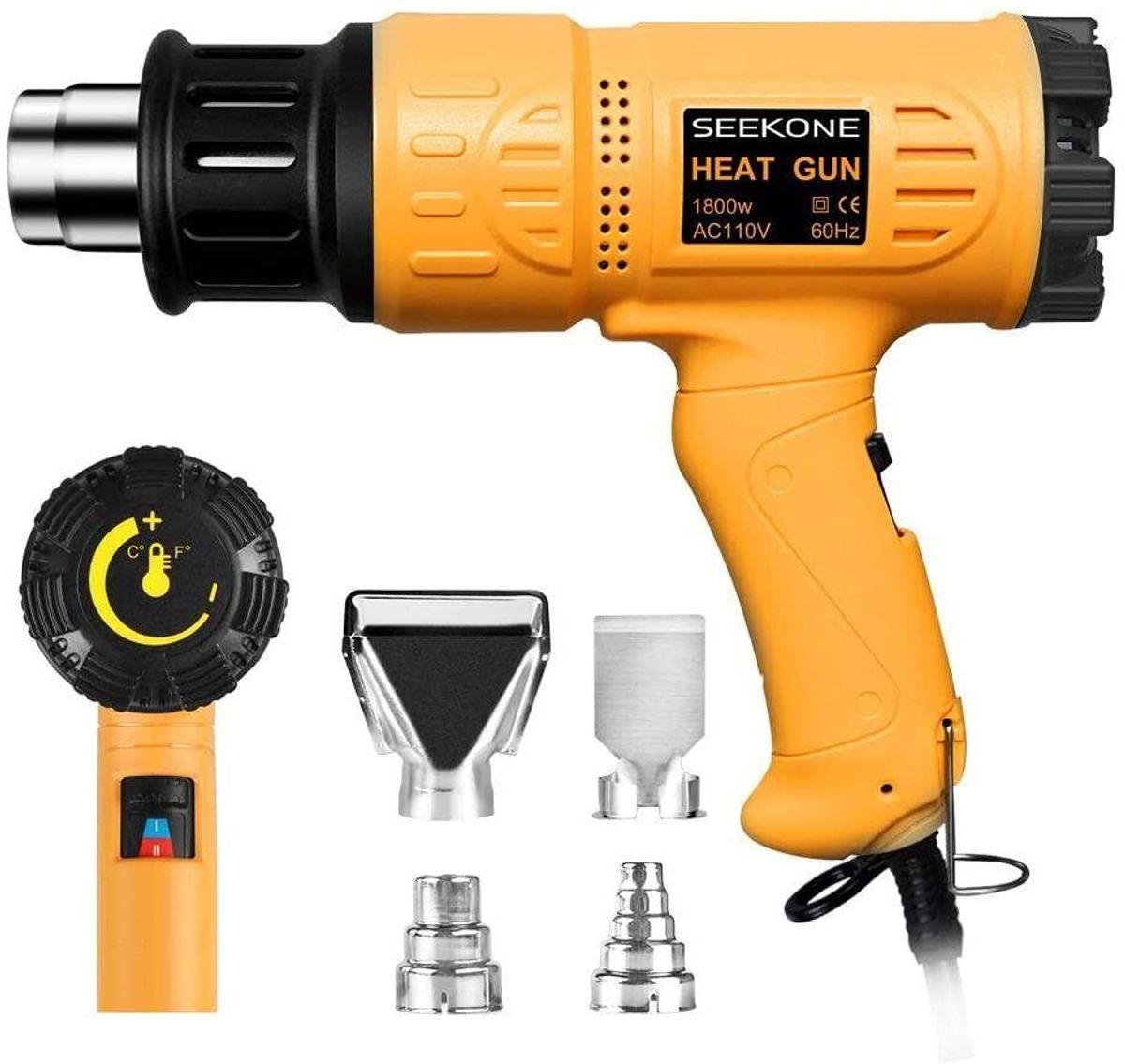 Heat Gun 1800W Heavy Duty Hot Air Gun Kit