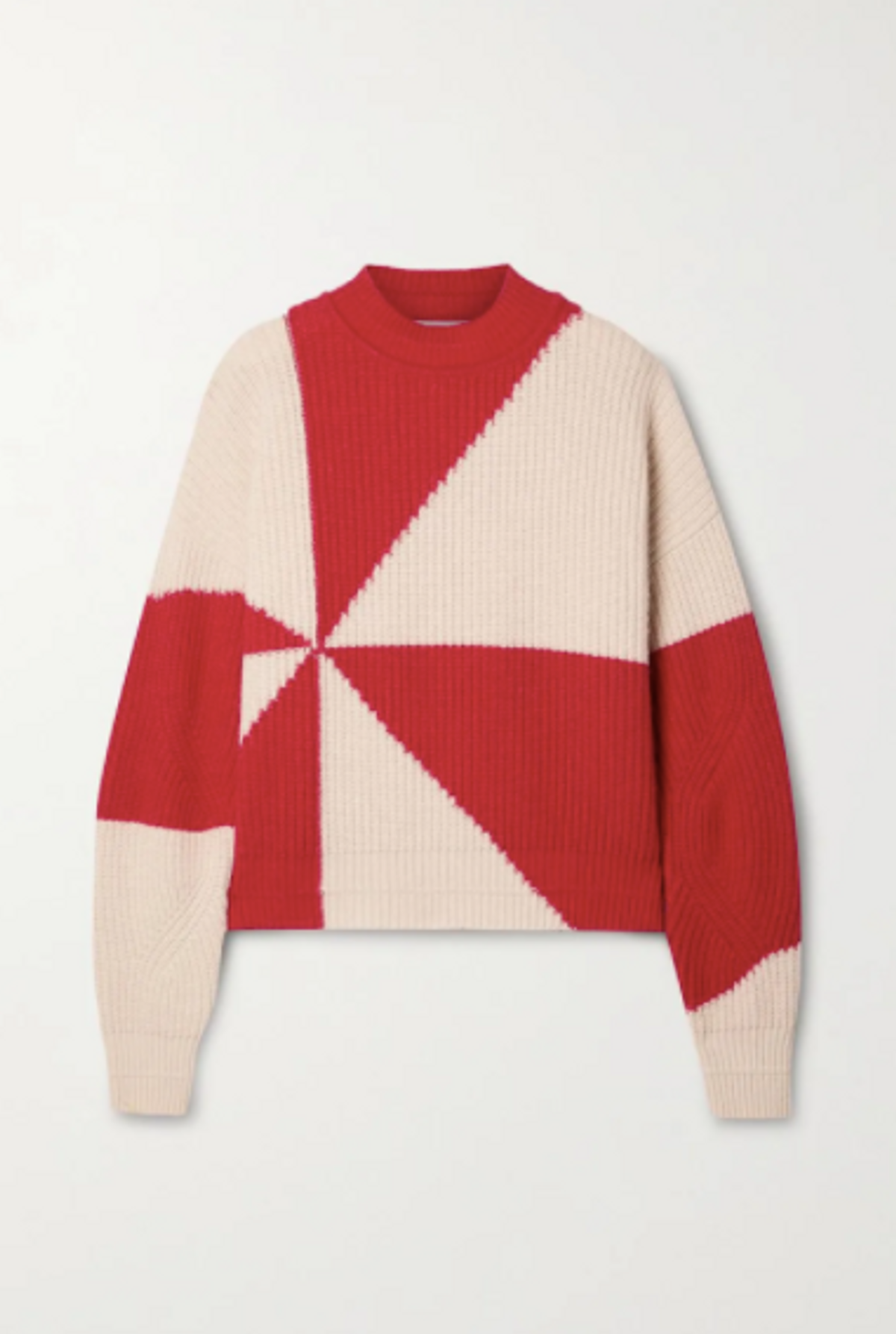 + NET SUSTAIN Jules Two-Tone Recycled Ribbed Knit Sweater