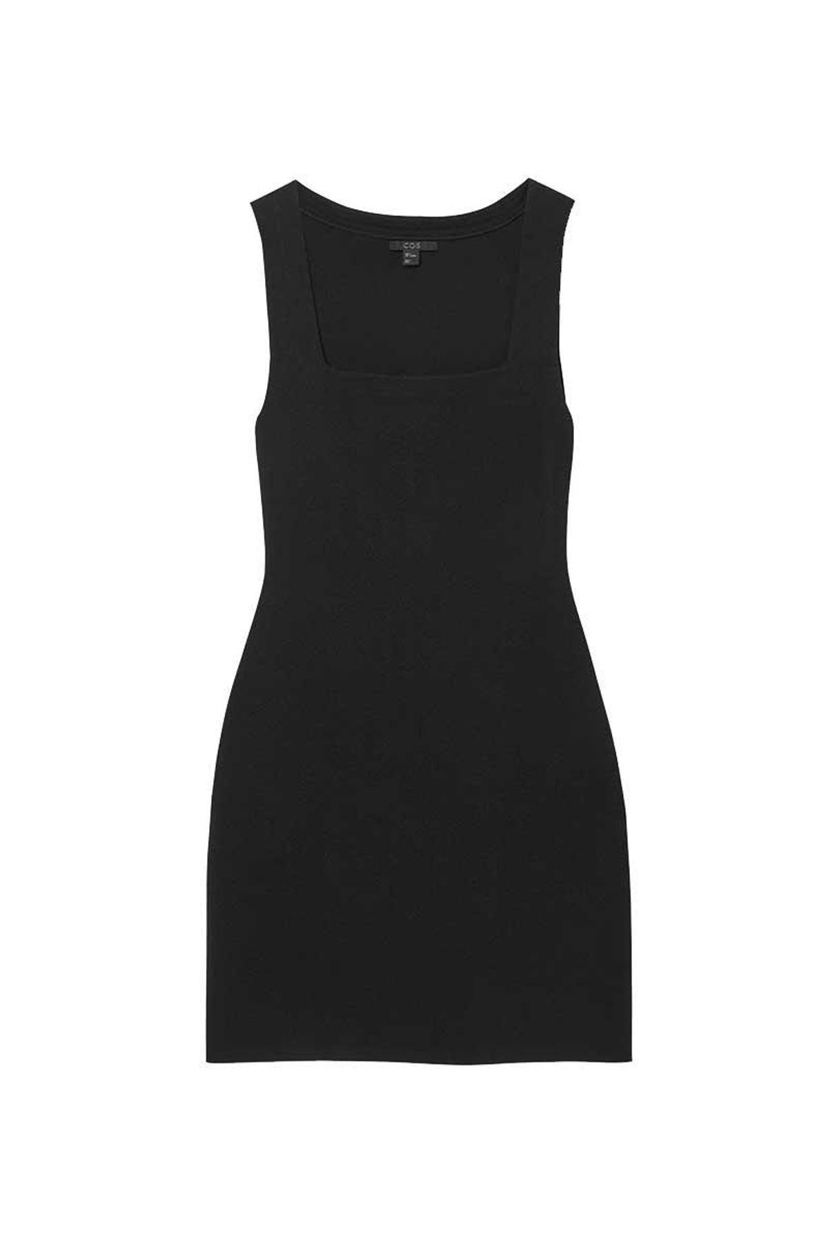 cos square neck tube dress