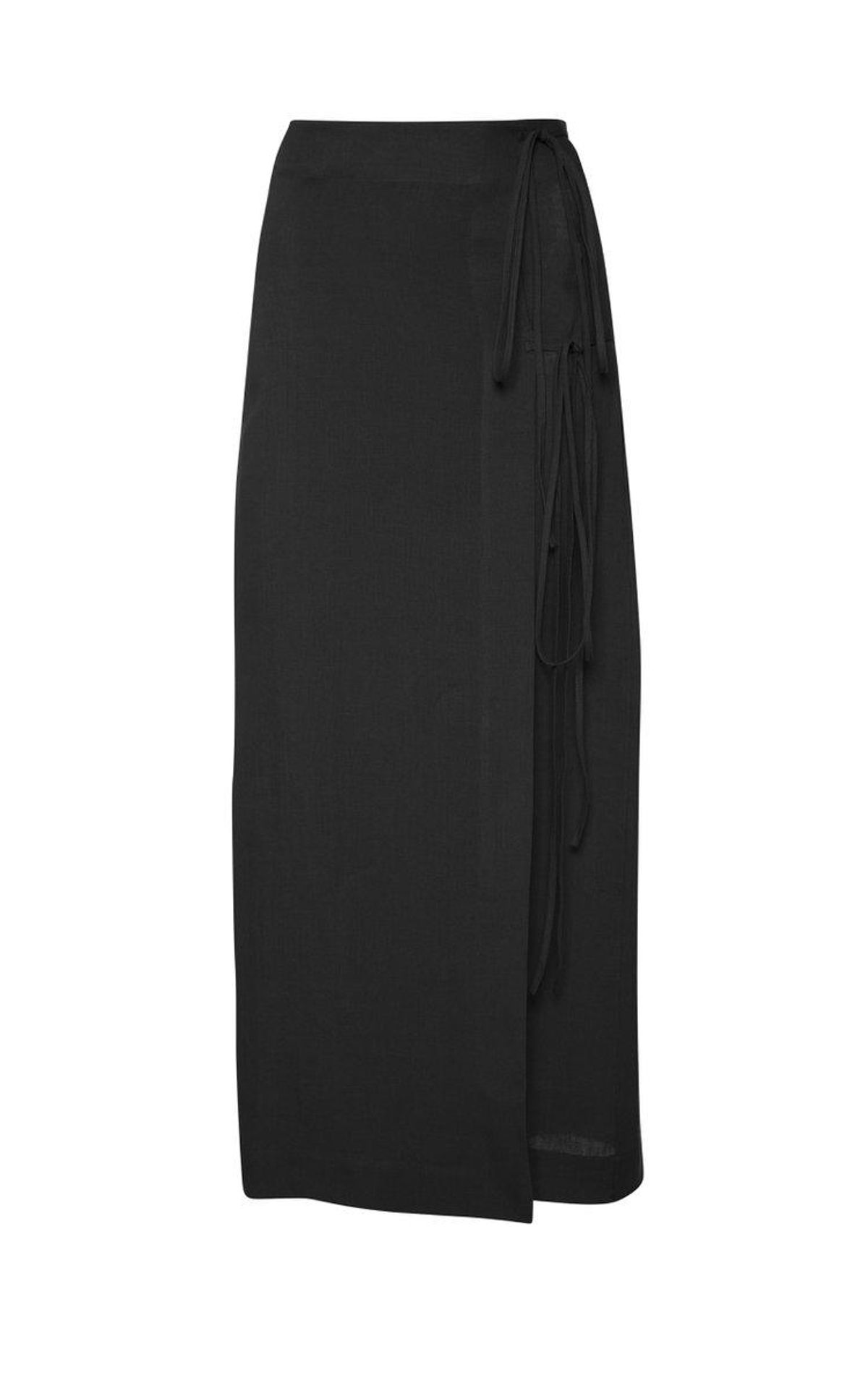 Rouleau Linen Wrap Skirt
