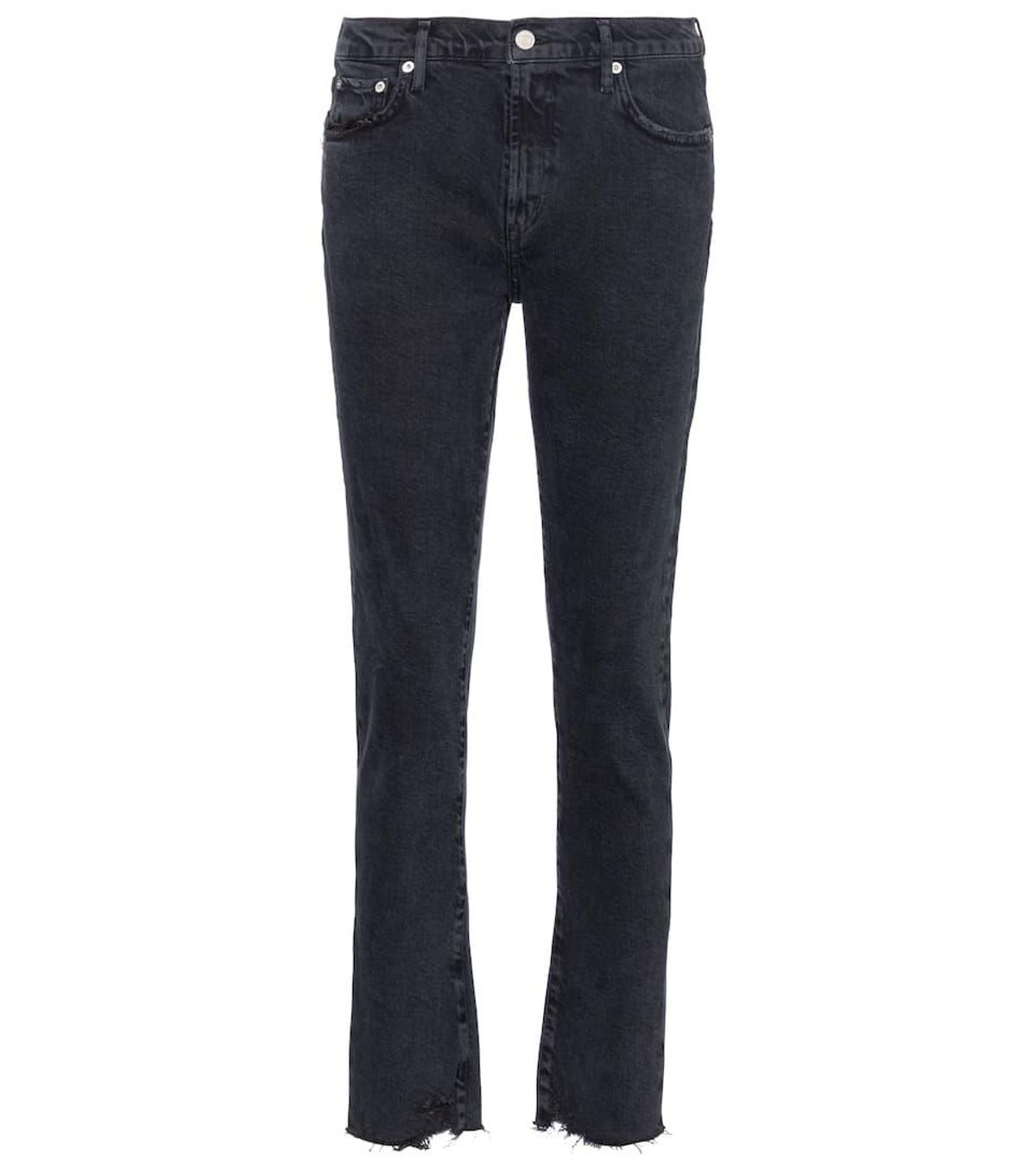 Toni Mid Rise Straight Jeans