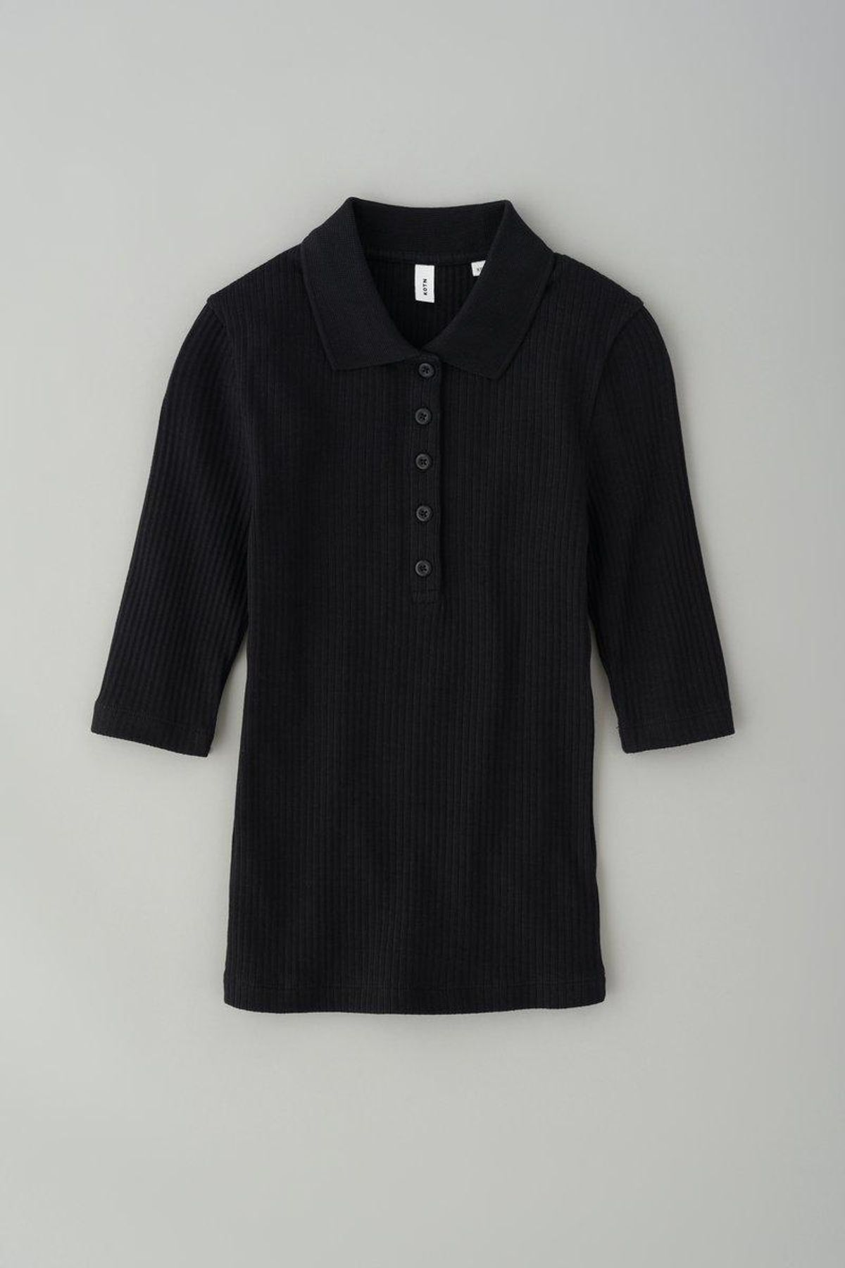 Ribbed Fitted Polo