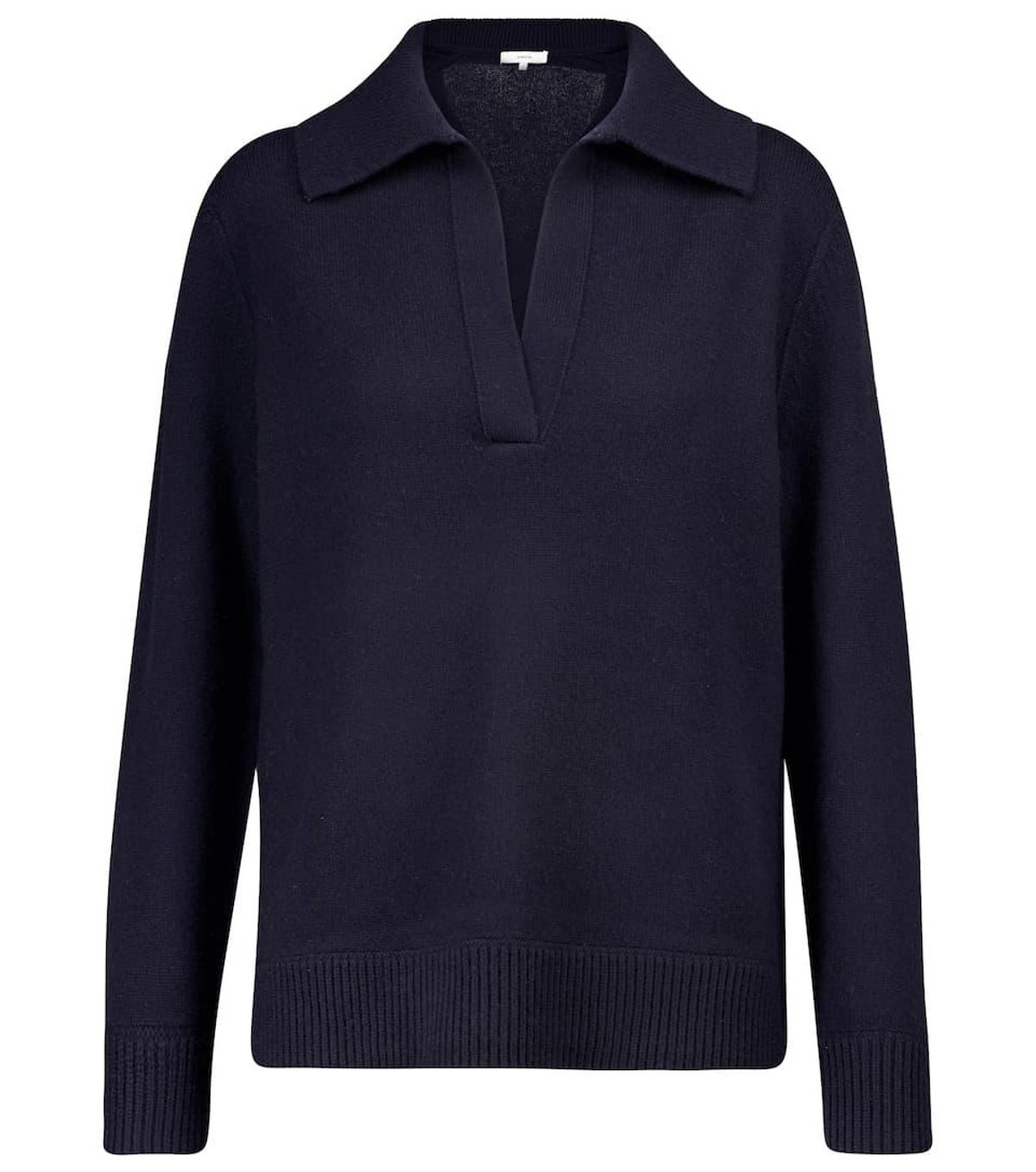 Wool and Cashmere Polo Sweater