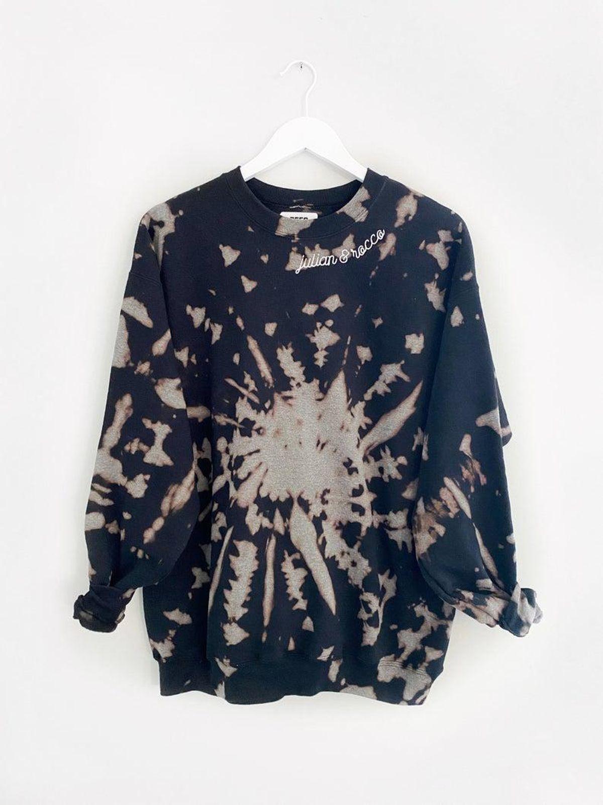 Flip It Stitch Embroidered Reverse Tie-Dye Sweatshirt