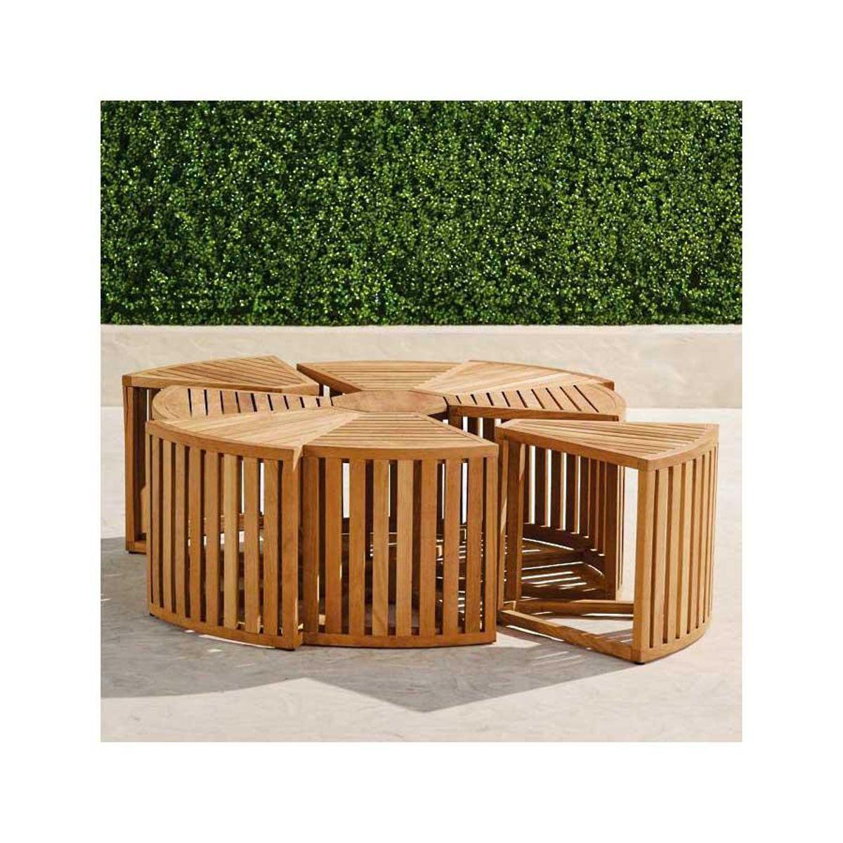 frontgate pasadena teak coffee table