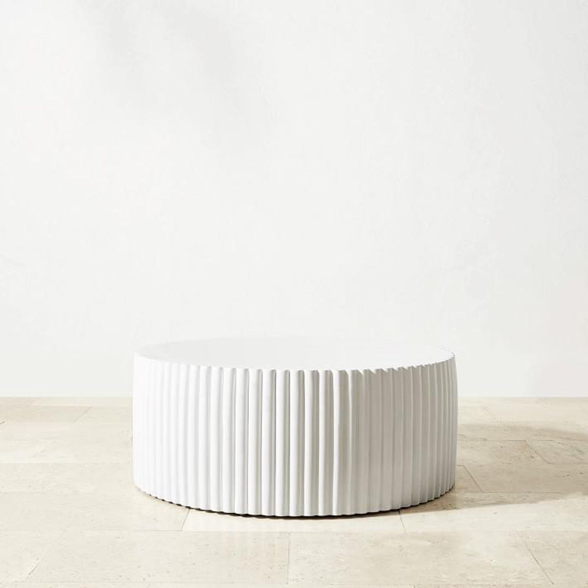 williams sonoma tropea fluted round coffee table