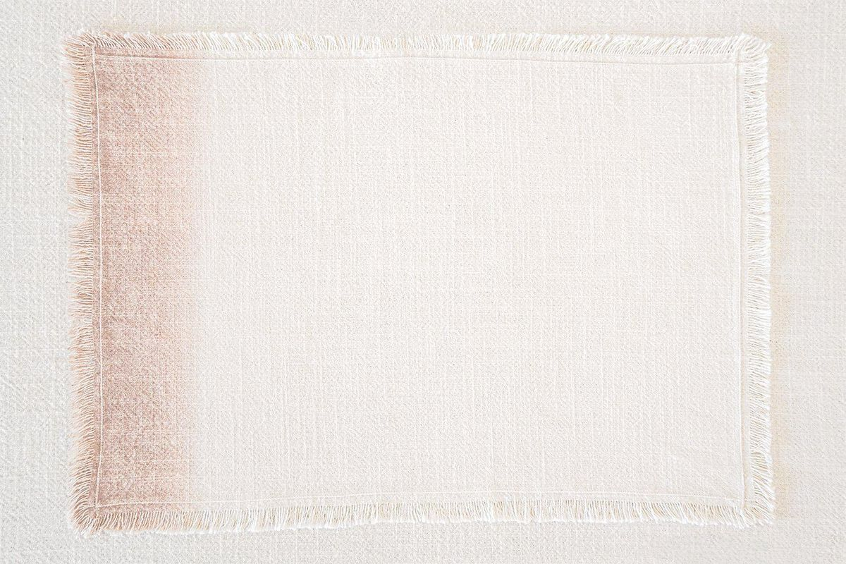 anaya pink ombre cotton fringe placemat