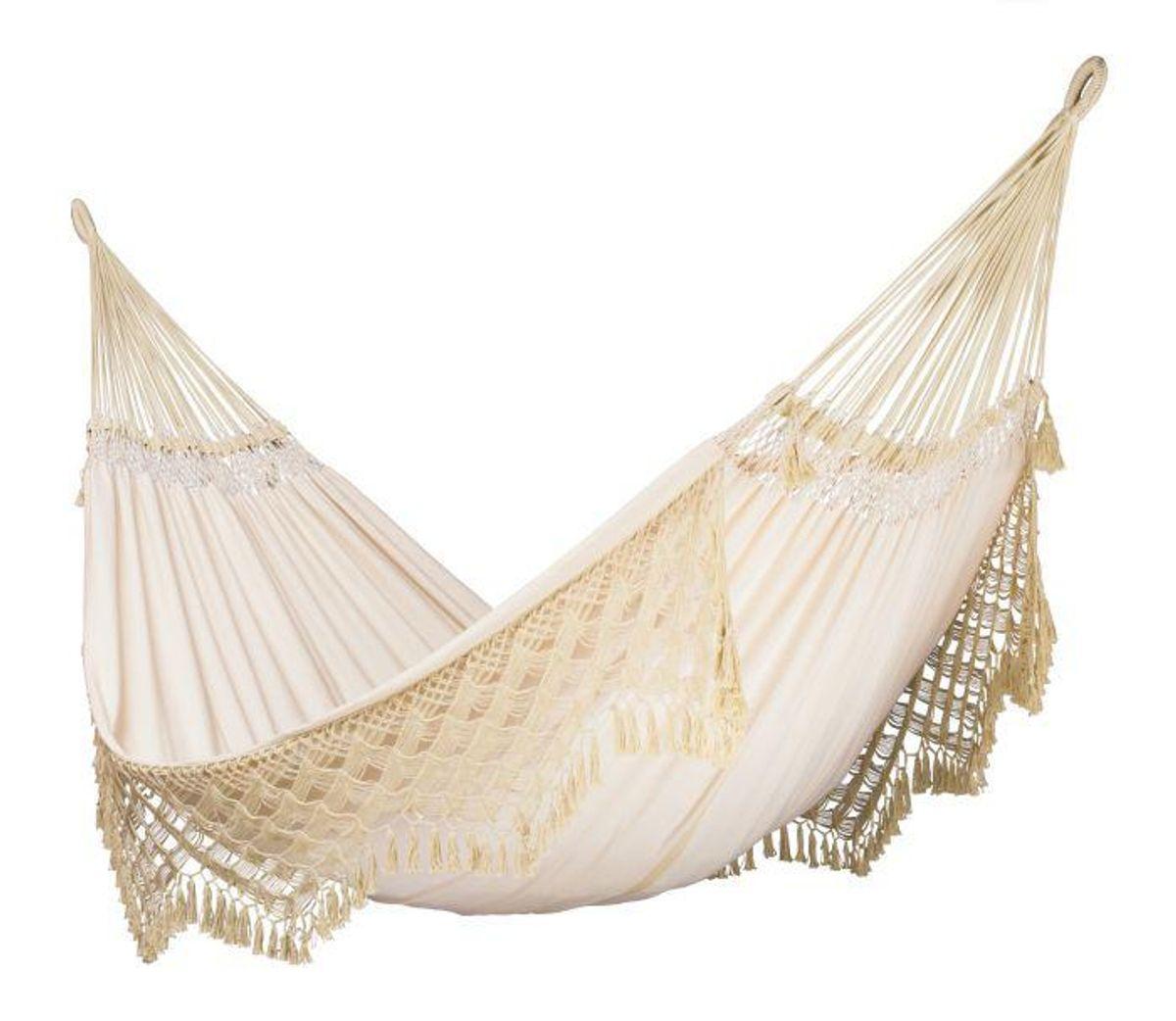 la siesta Bossanova champagne organic cotton kingsize classic hammock
