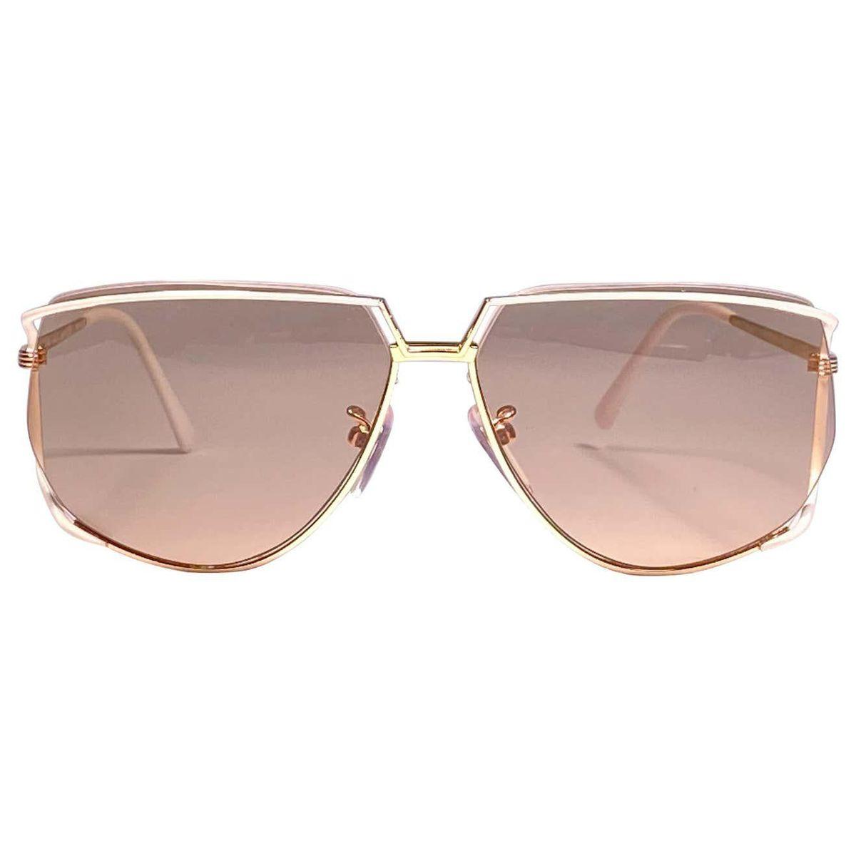 tura 425 ultra rare 1970s oversized gold and white light lenses sunglasses