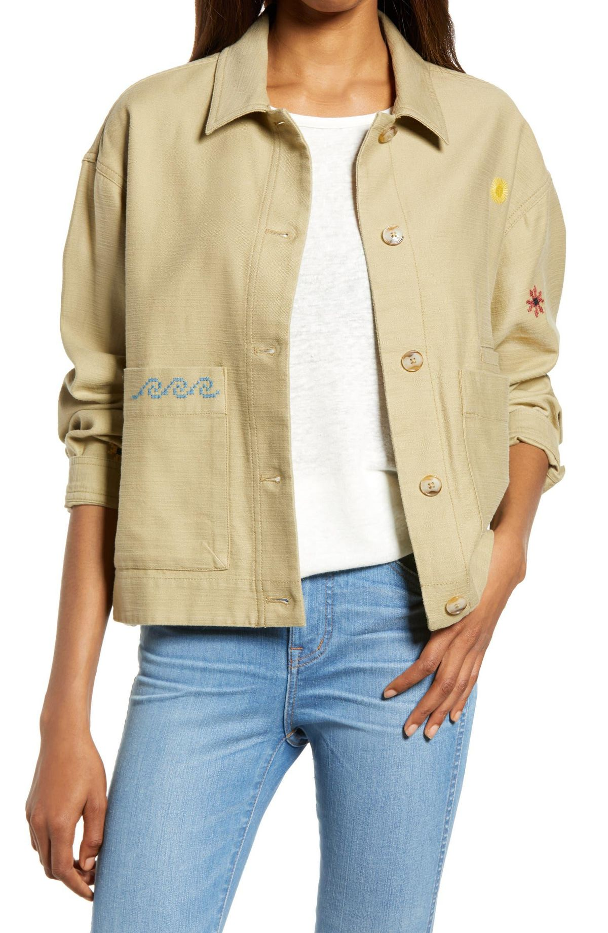 Embroidered Chore Jacket