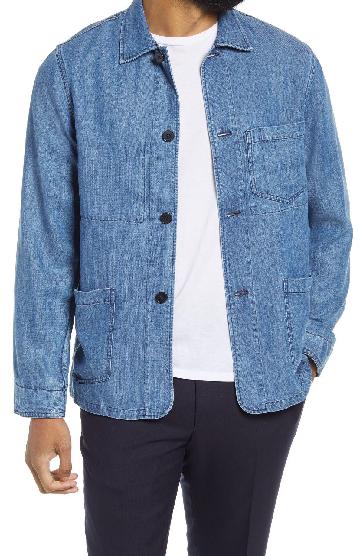 Chambray Chore Jacket