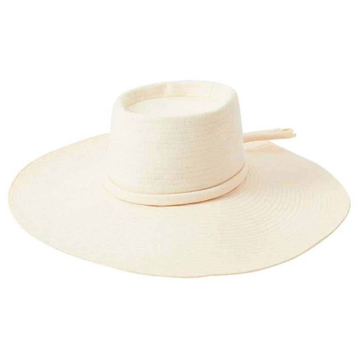 yves saint laurent cream tone wide brim hat