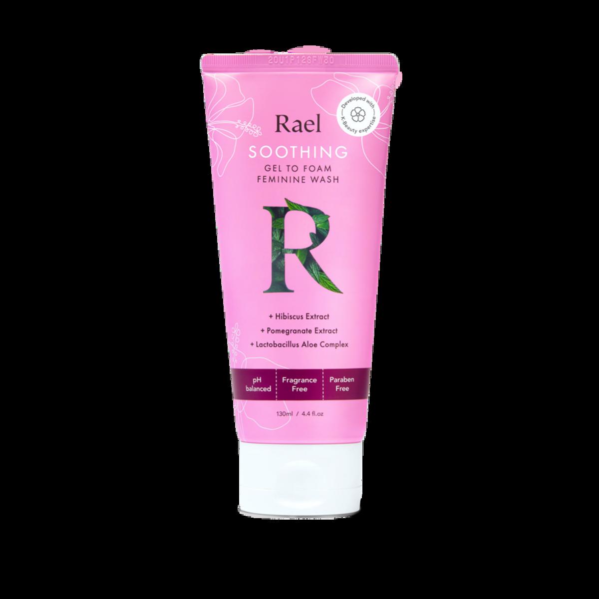 rael soothing gel to foam feminine wash