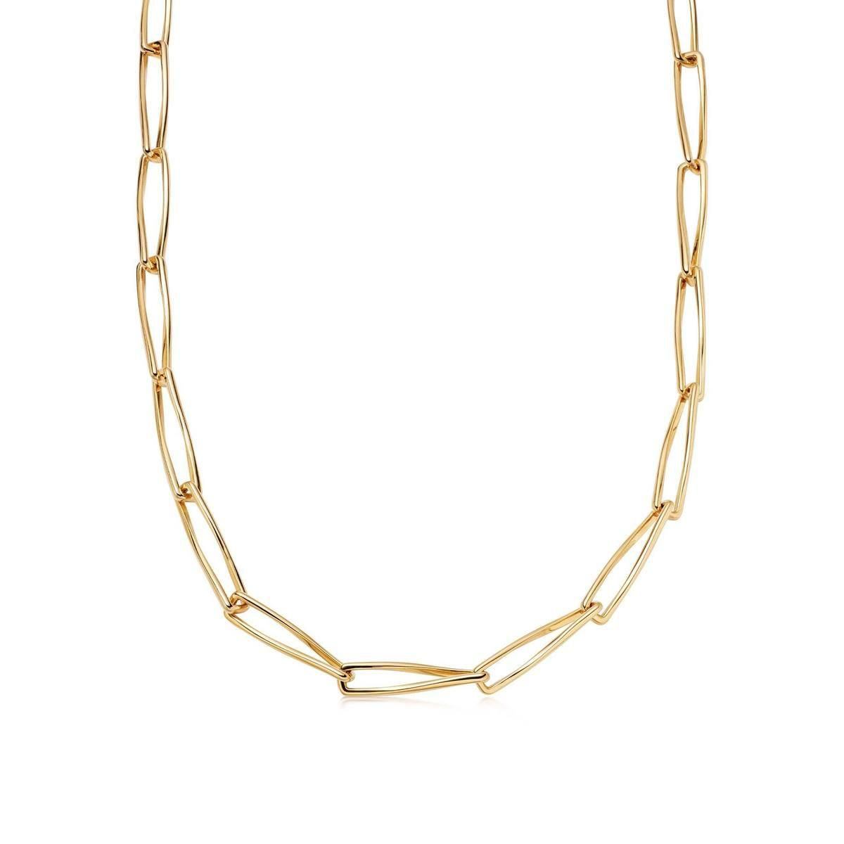 Gold Thin Pirouette Chain Necklace