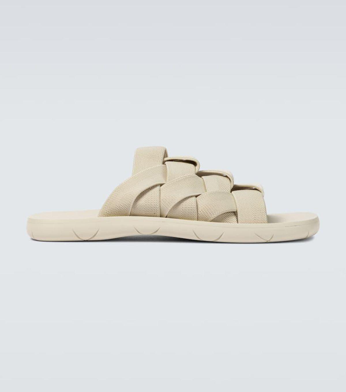 Elasticated Intrecciato Sandals