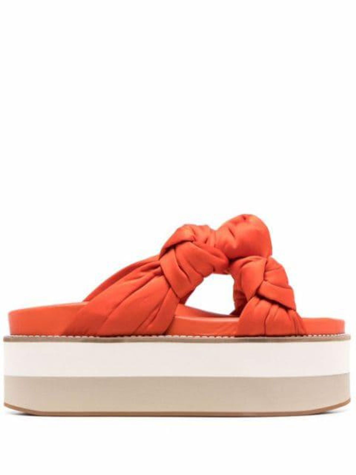 Recycled Satin Knotted Flatform Sandals