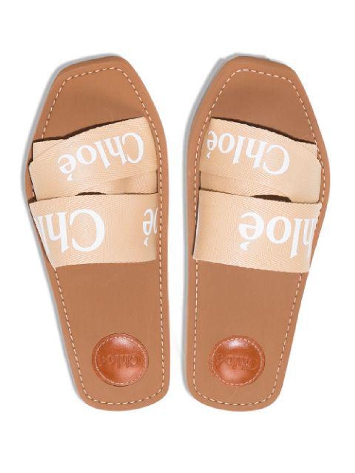 Woody Logo Strap Sandal