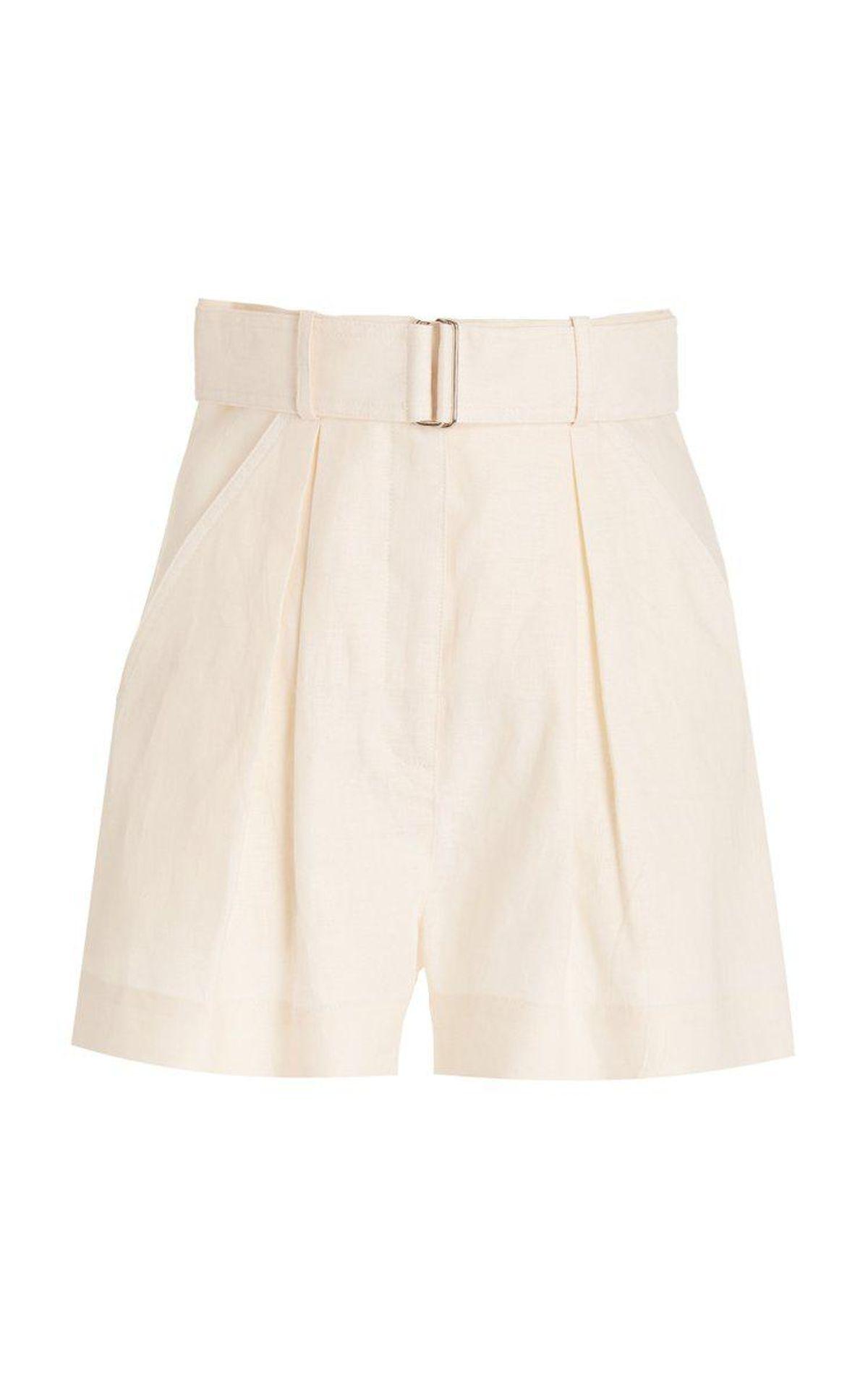 matthew burch exclusive pleated linen shorts