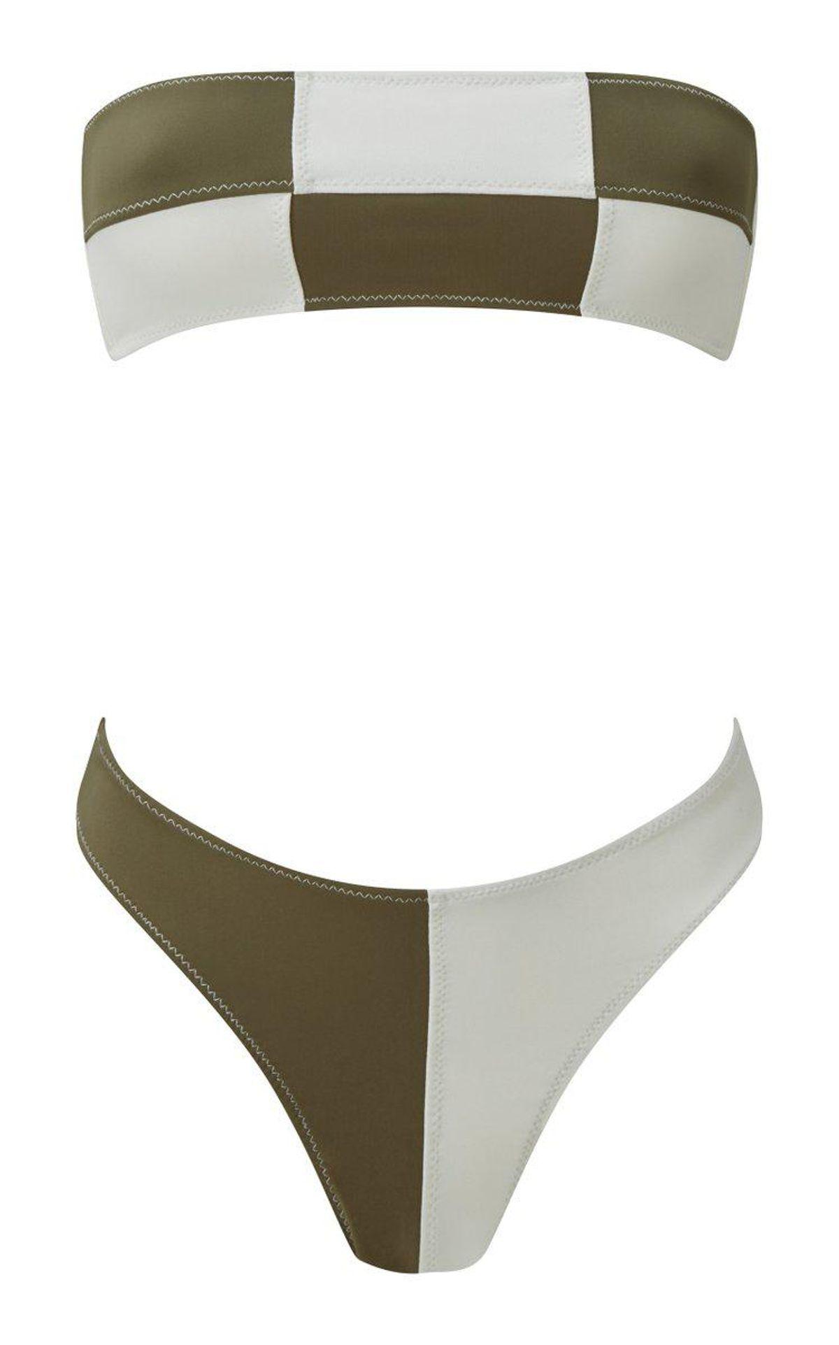matthew burch daria colorblocked bandeau bikini