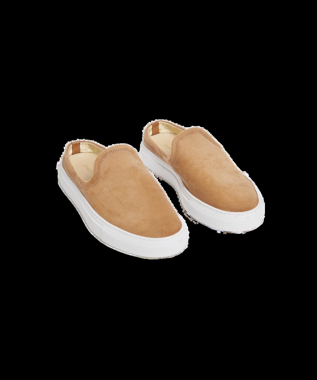 Suede Slide Sneaker in Honey
