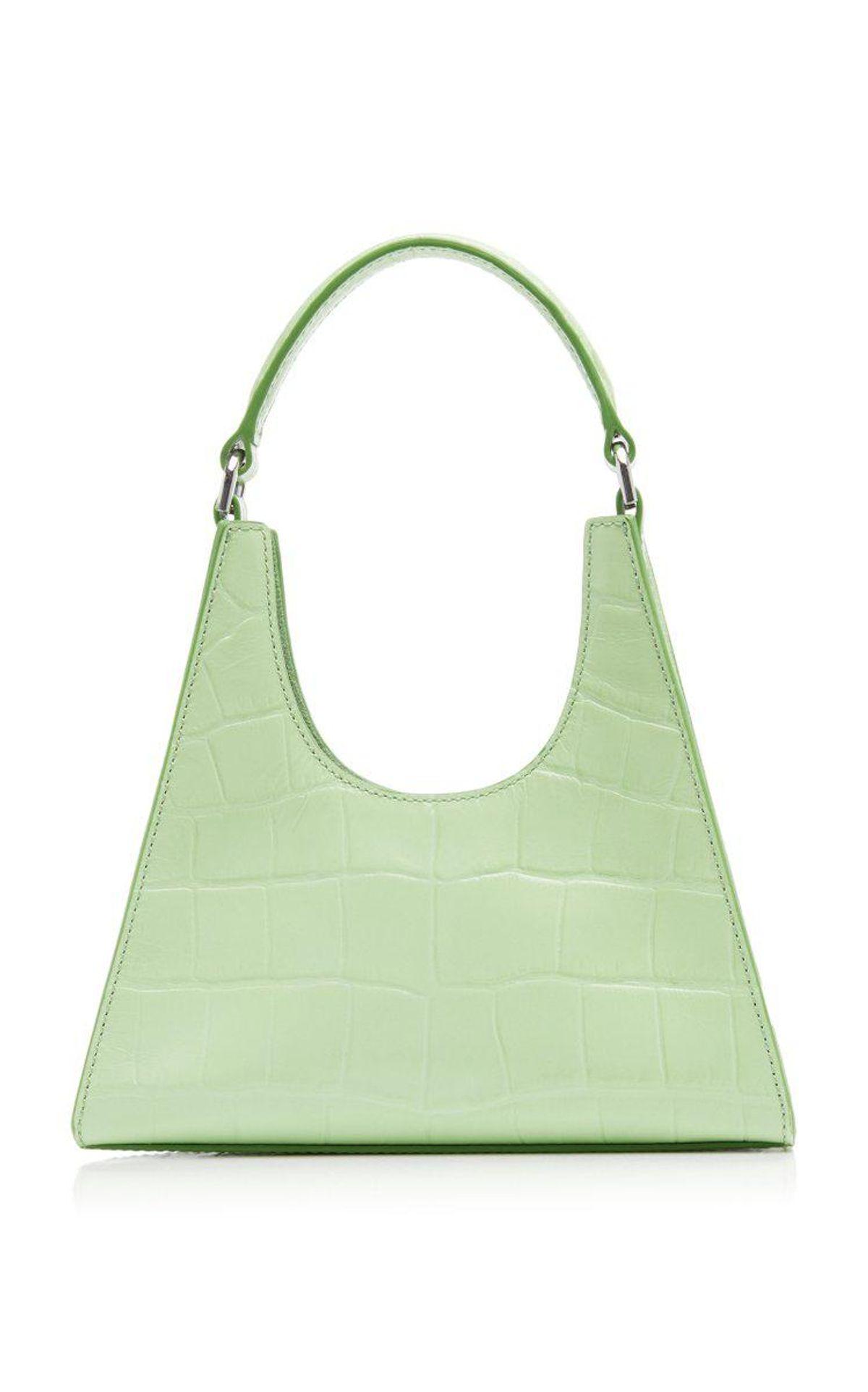 Rey Mini Croc Effect Leather Shoulder Bag