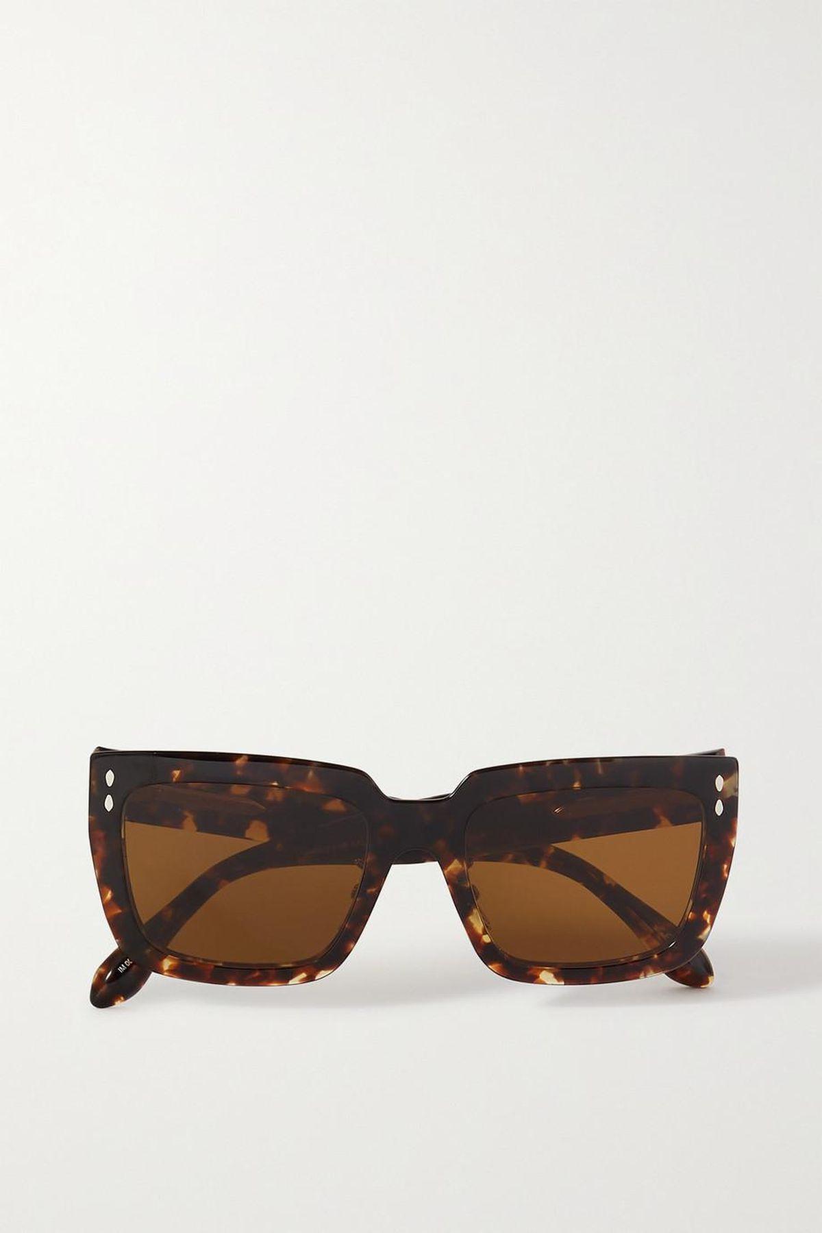 Sophy Square Frame Tortoiseshell Acetate Sunglasses