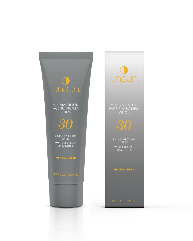 unsun cosmetics mineral tinted face sunscreen