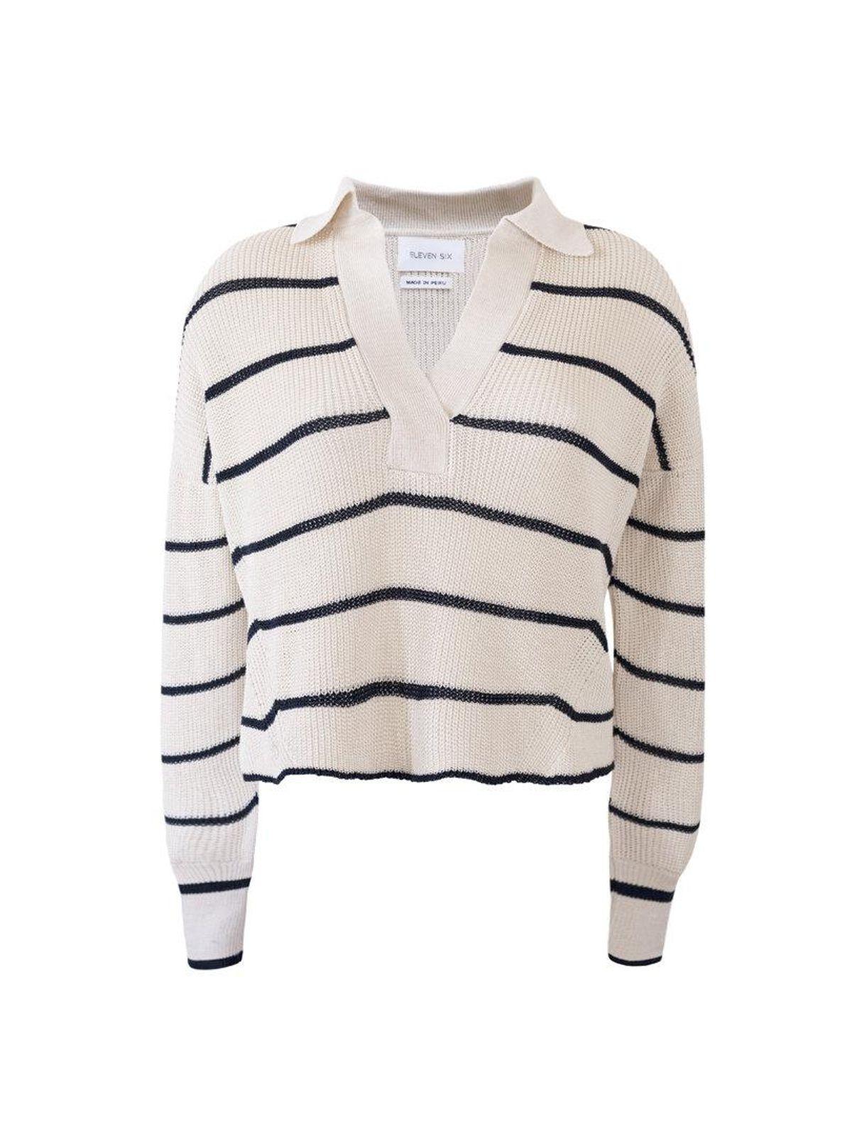 eleven six aria polo sweater