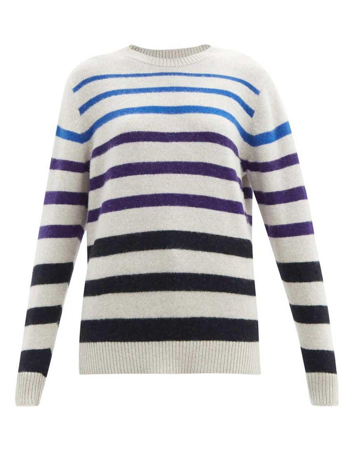 the elder statesman gradient stripe cashmere sweater